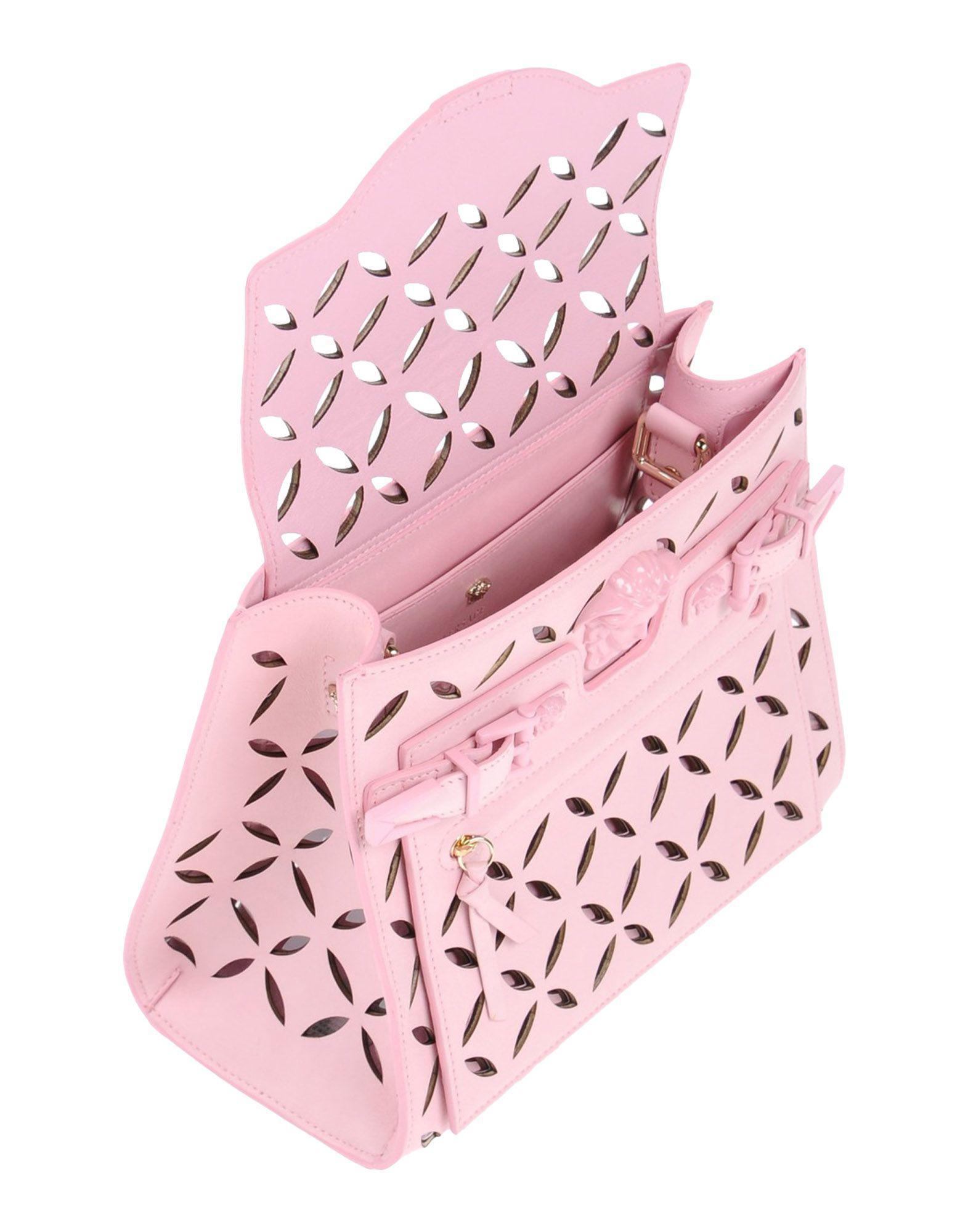 54d312635 Lyst - Versace Cross-body Bag in Pink