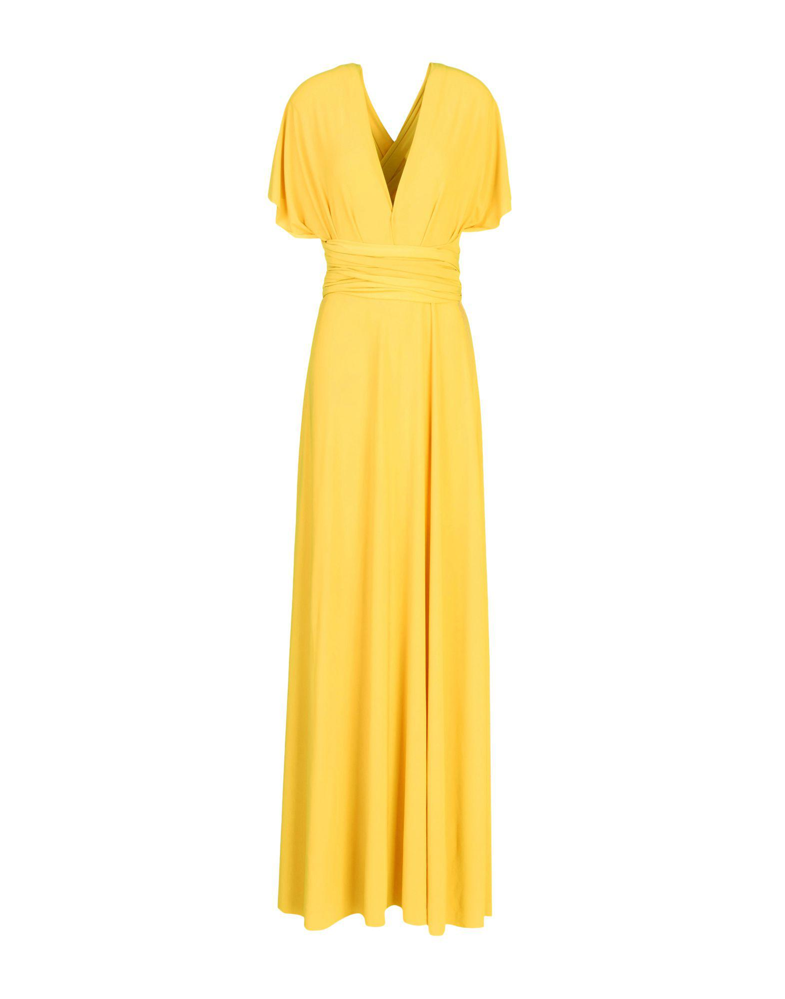 a8eda6c0c3 Von Vonni Long Dress in Yellow - Lyst