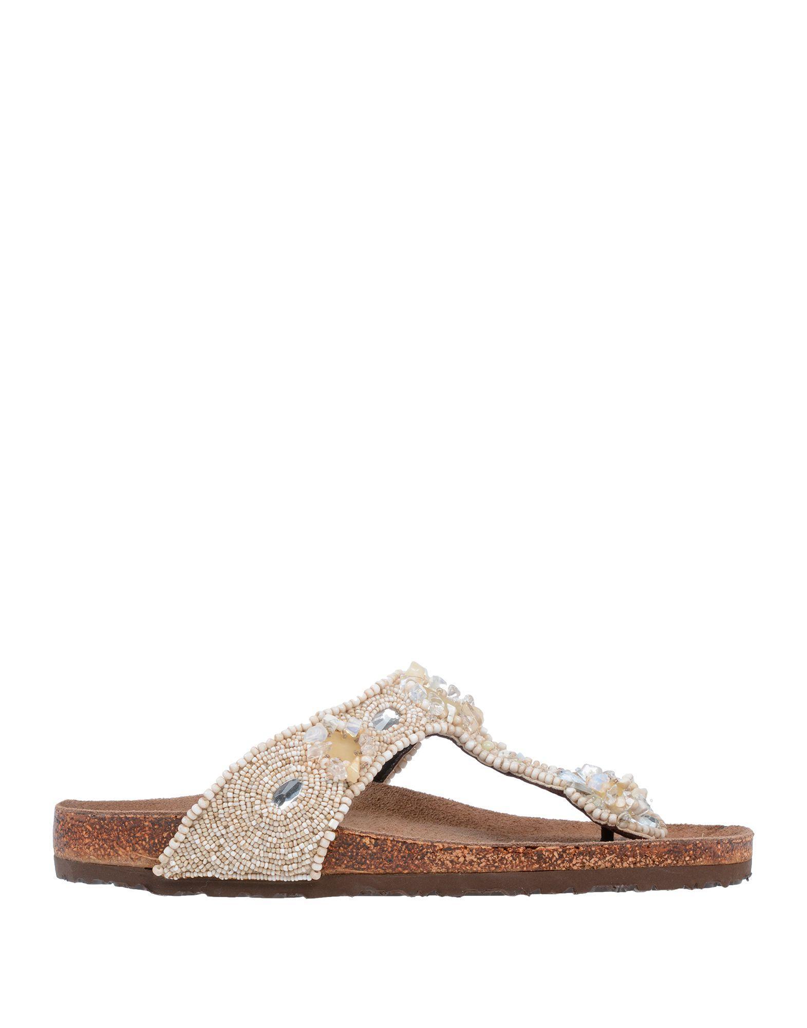 569bb59e2fe6 Lyst - Maliparmi Toe Post Sandal in White