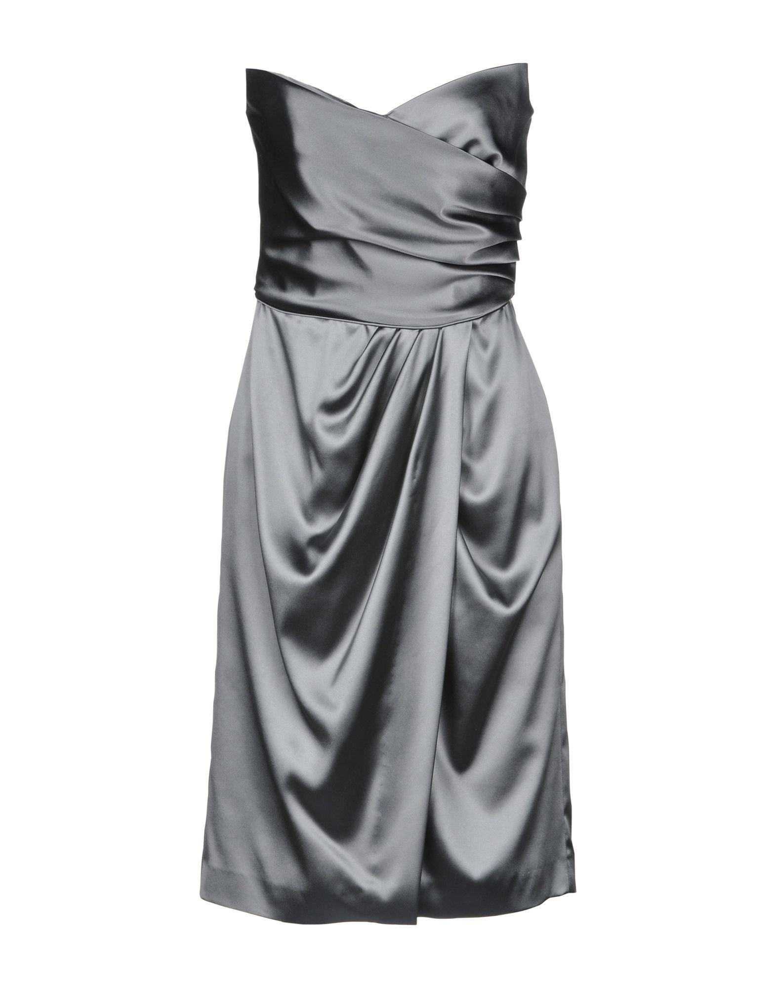 dbb5b076b63e1 Lyst - Alberta Ferretti Short Dress in Gray