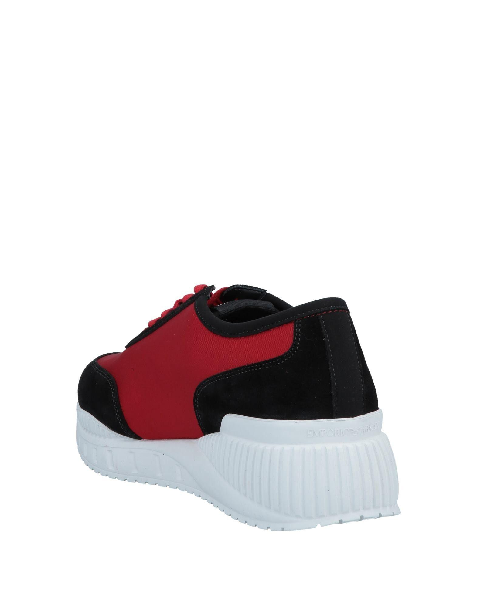 brand new d3712 115b6 Lyst - Emporio Armani Low-tops  Sneakers in Red for Men