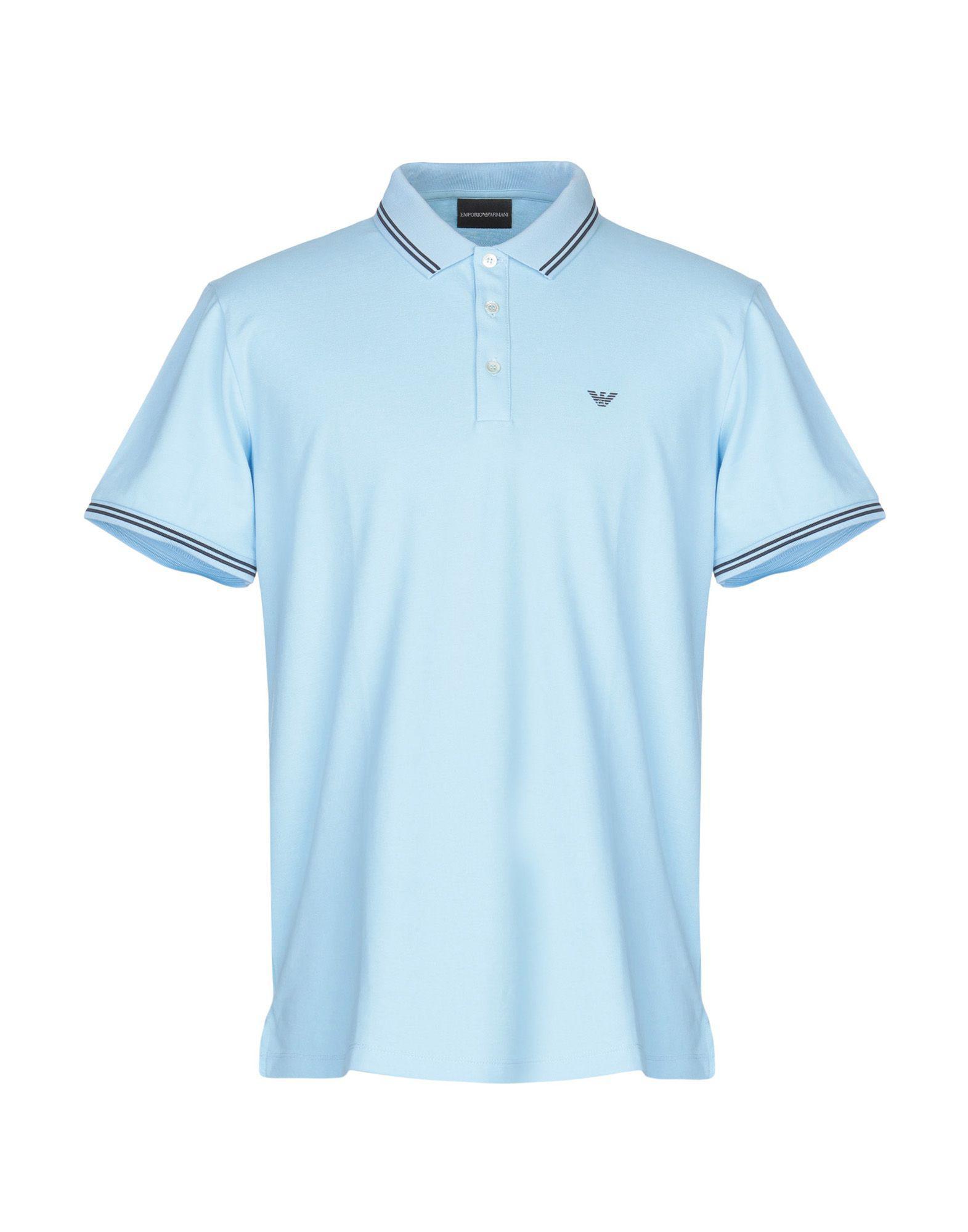 398180b5 Lyst - Emporio Armani Polo Shirt in Blue for Men