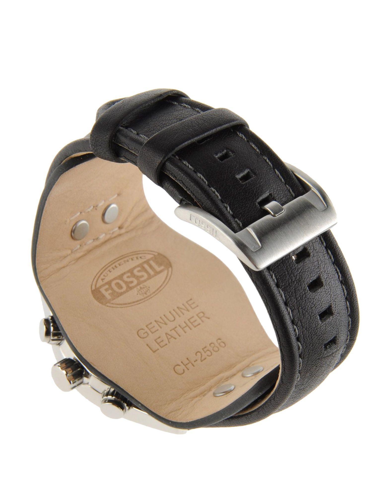 1be41aeccafb Reloj de pulsera Fossil de hombre de color Negro - Lyst