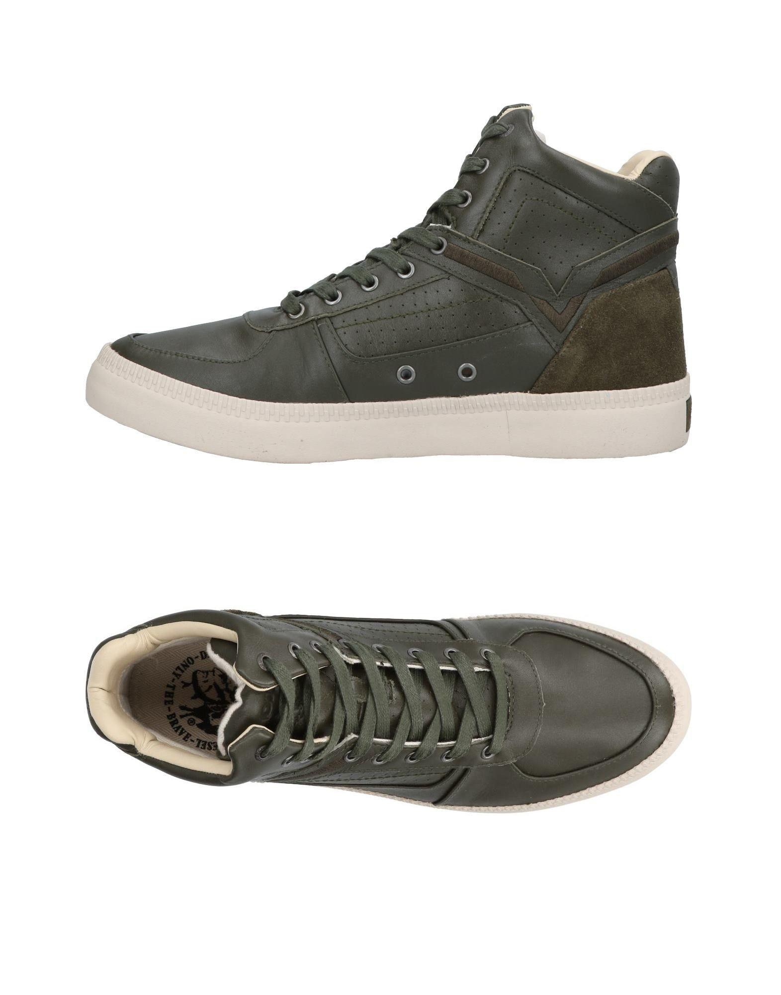Diesel Green Military High-Top Sneakers BW0go