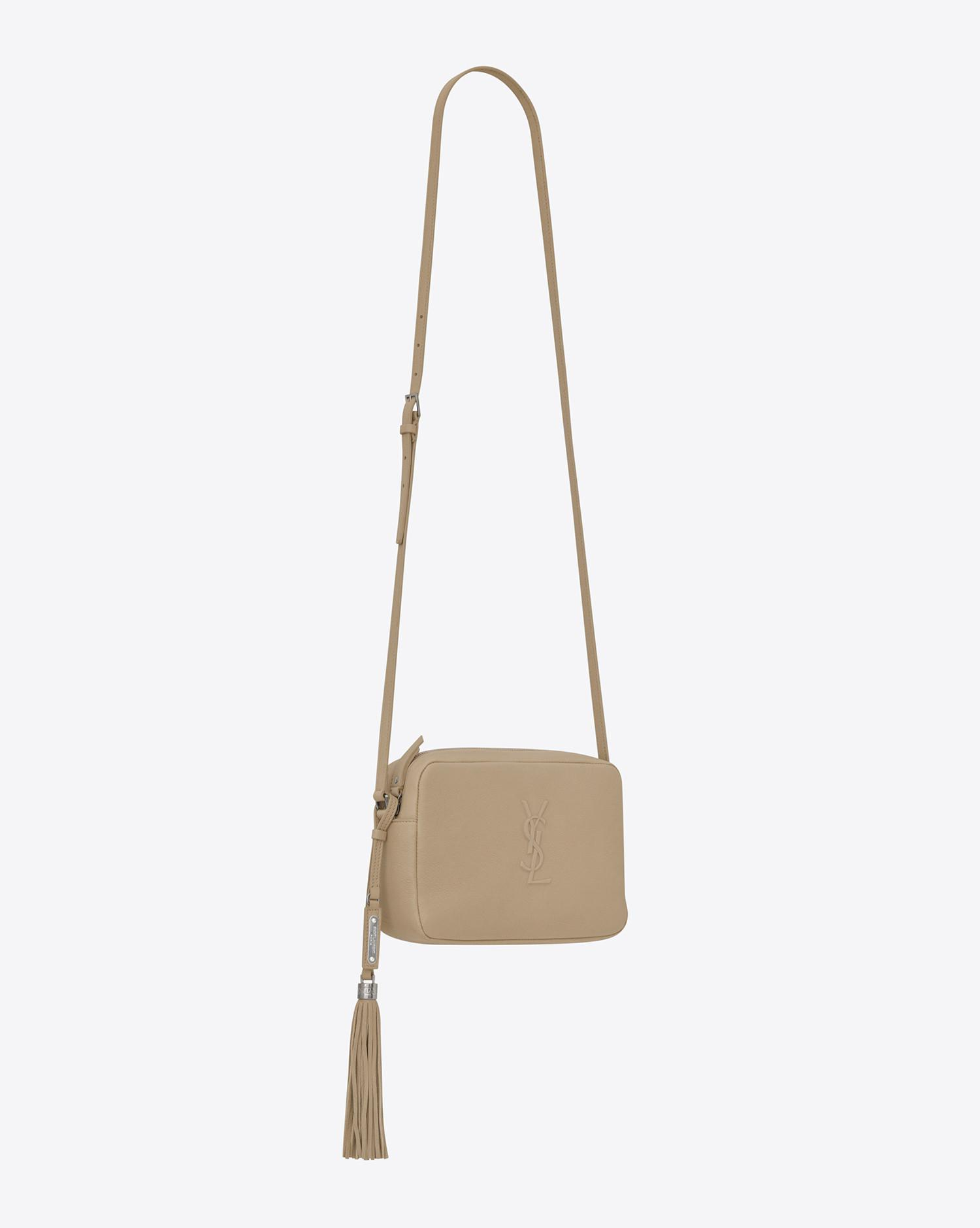 0cc397c3e1a Lyst - Saint Laurent Small Lou Camera Bag In Dark Beige Leather in ...