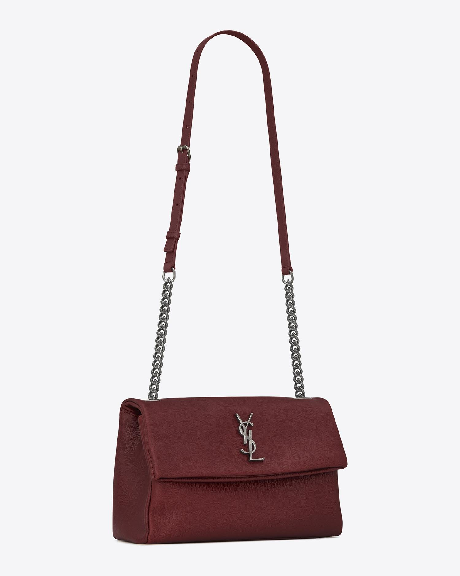7ae586480254 Lyst - Saint Laurent Medium West Hollywood Bag In Dark Red Textured ...
