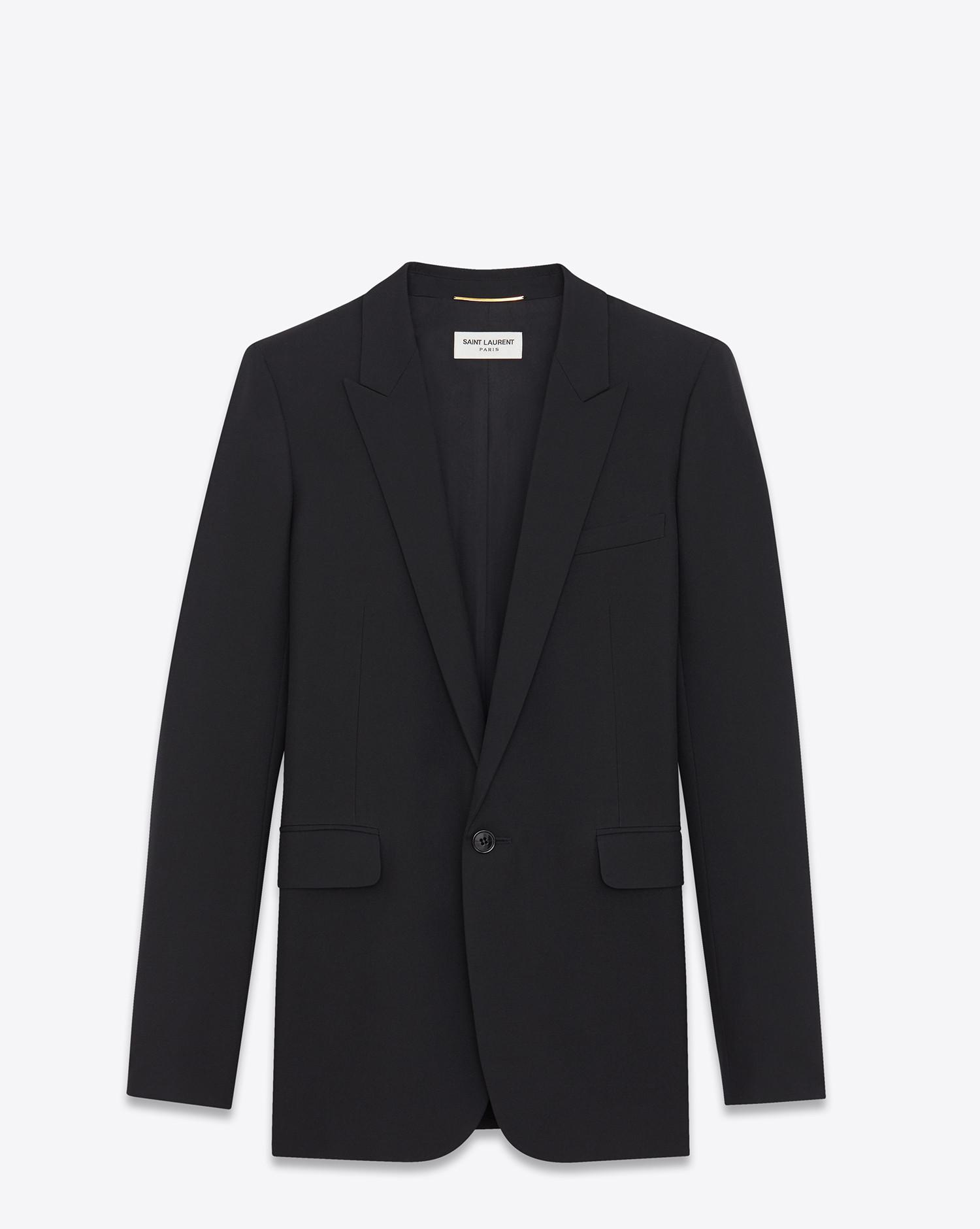 single breasted tube jacket - Black Saint Laurent Cheap Manchester Outlet Cheap Online Outlet Deals cWp2pxVUd