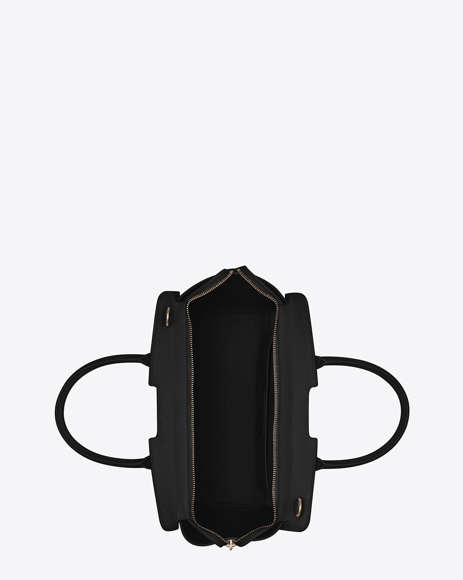 255da7ac33 Lyst - Saint Laurent Downtown Baby Cabas In Leather And Suede in Black
