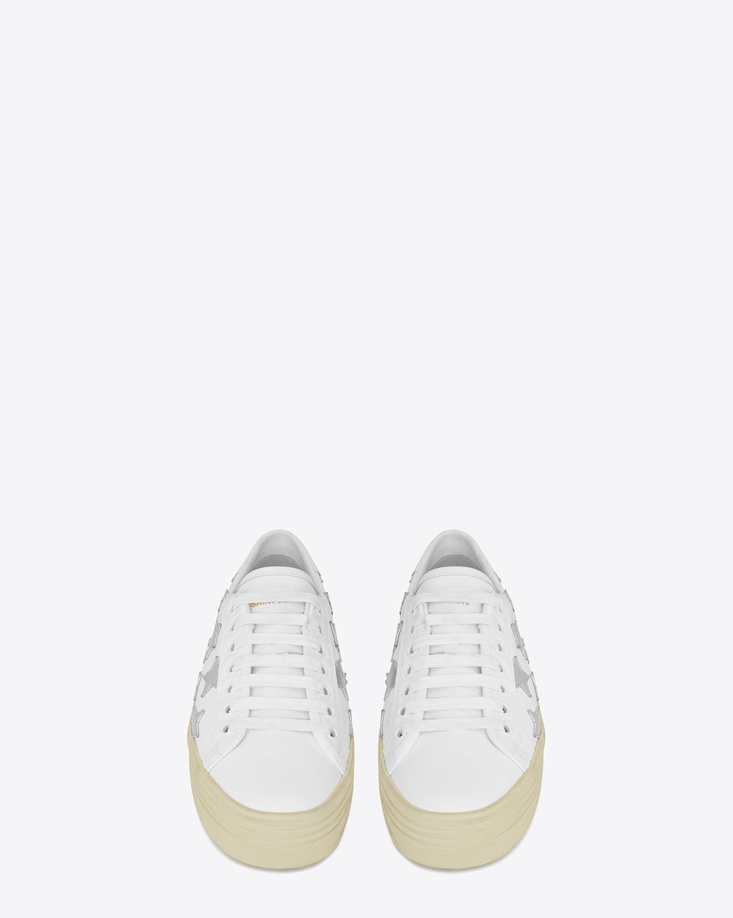 4be3a57e573 Lyst - Saint Laurent Signature Court Classic Sneakers in White