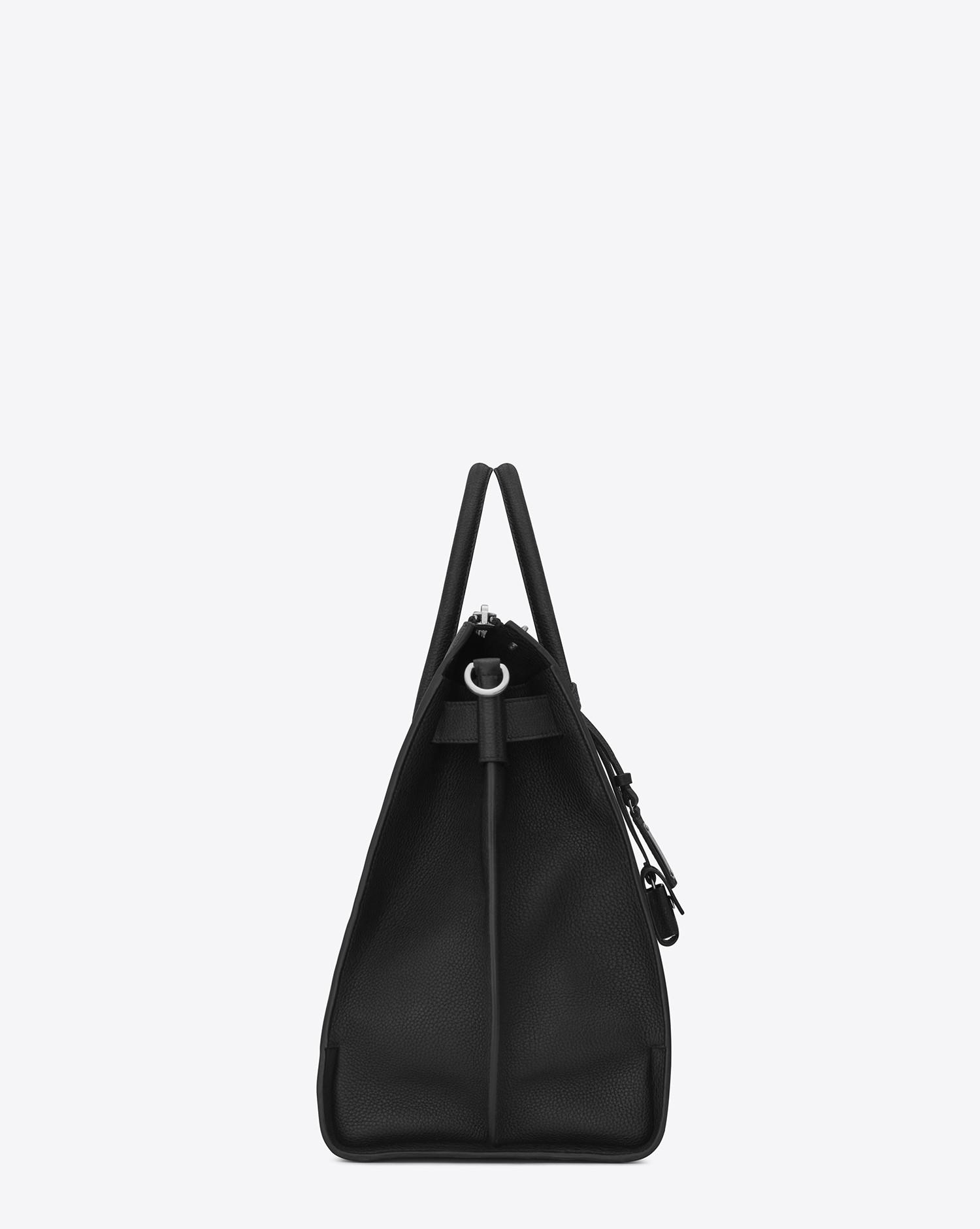 Lyst - Saint Laurent Sac De Jour 48h Duffle Bag In Grained Leather in Black  for Men 81dab987fa934