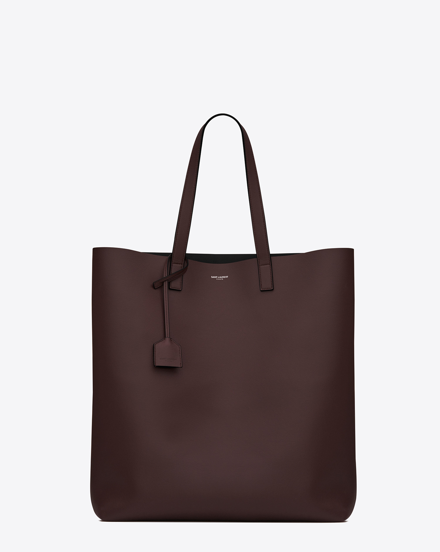 Lyst Saint Laurent Shopping Tote Bag In Bordeaux And