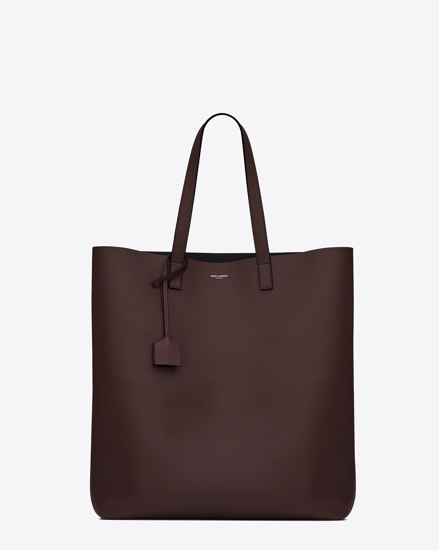 saint laurent shopping tote bag in bordeaux and black. Black Bedroom Furniture Sets. Home Design Ideas