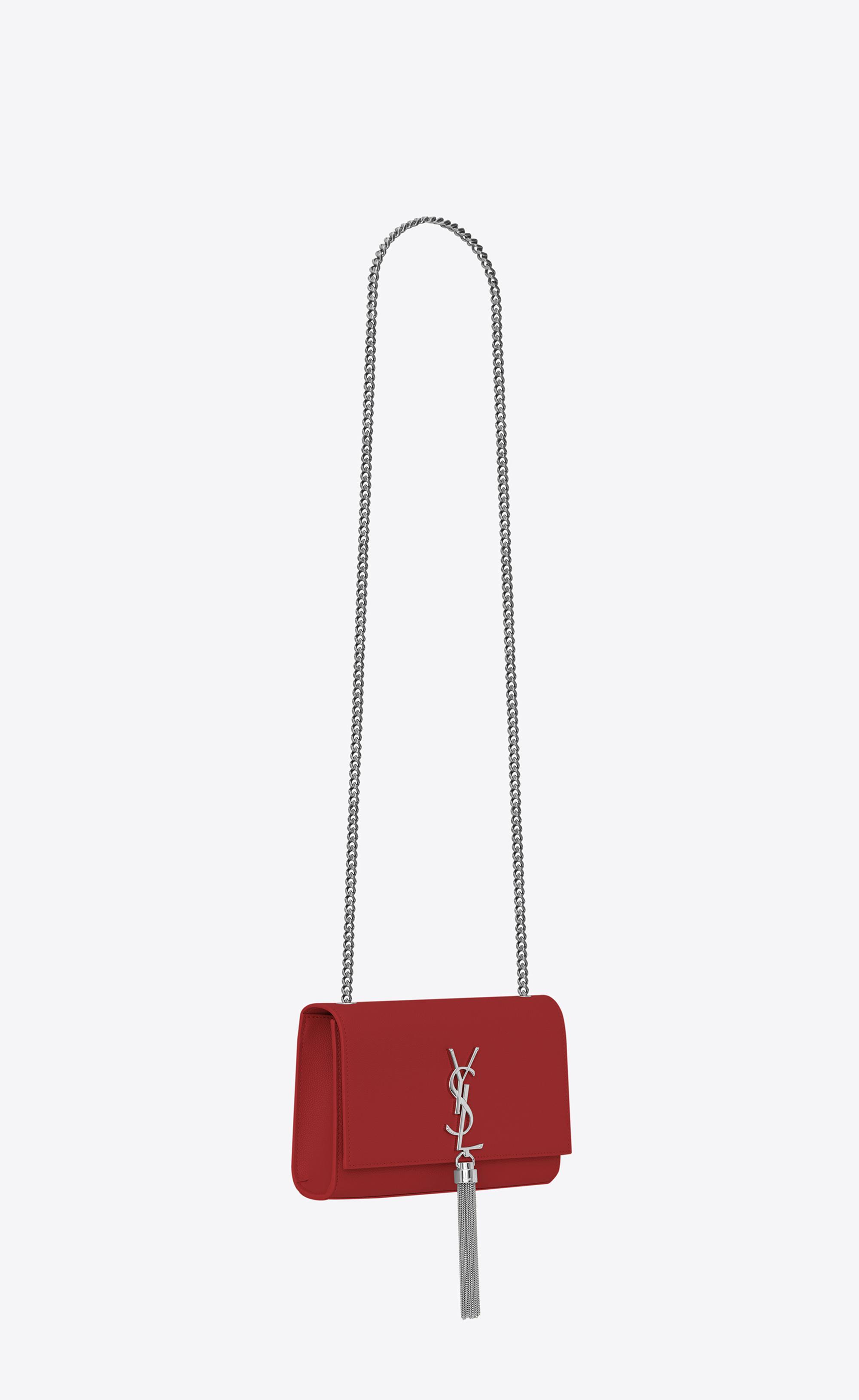 Saint Laurent - Red Monogram Kate With Tassel - Lyst. View fullscreen 3f737cc418cb2