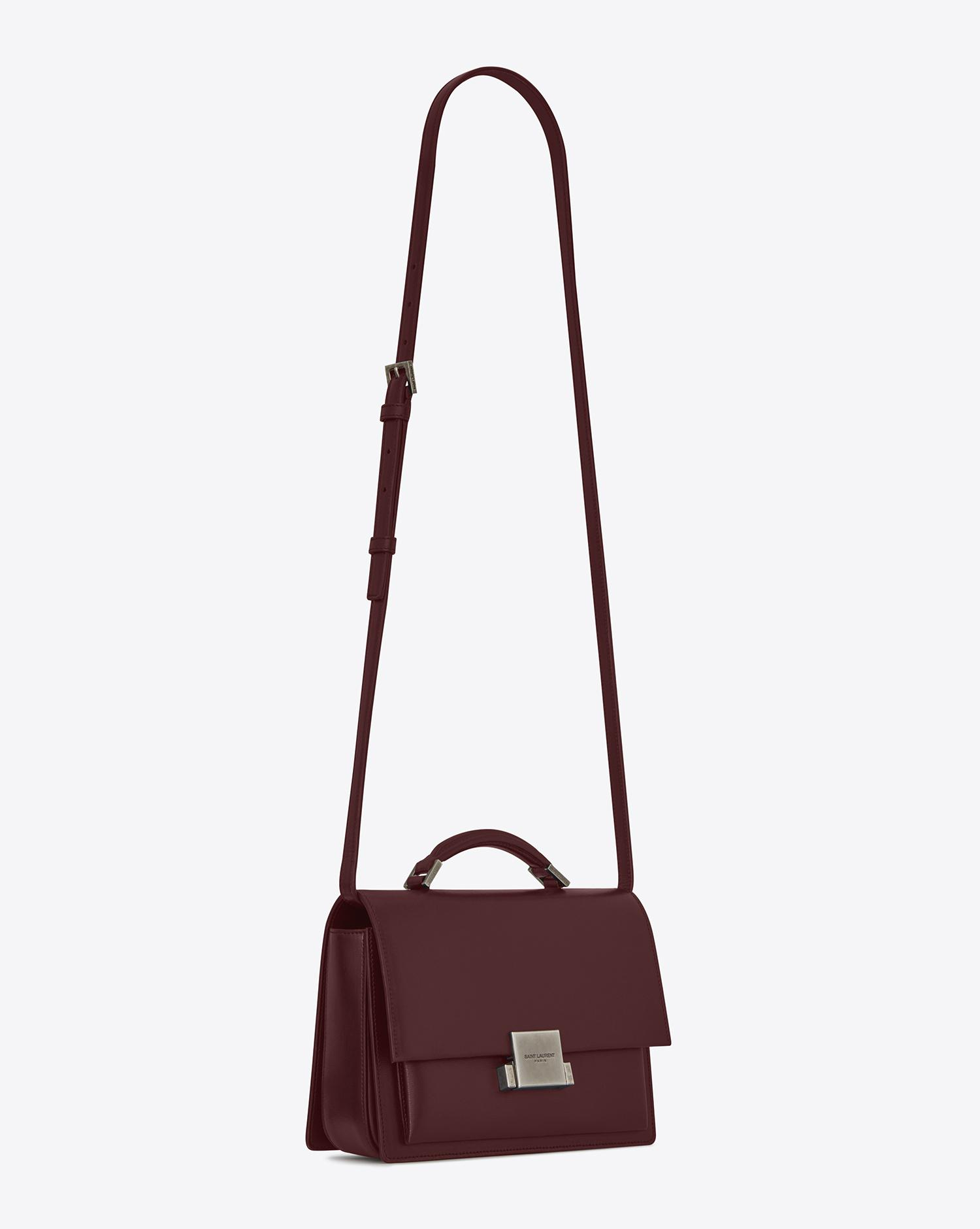 bcc8235b3a Saint Laurent Medium Bellechasse Bag In Dark Red Leather in Red - Lyst