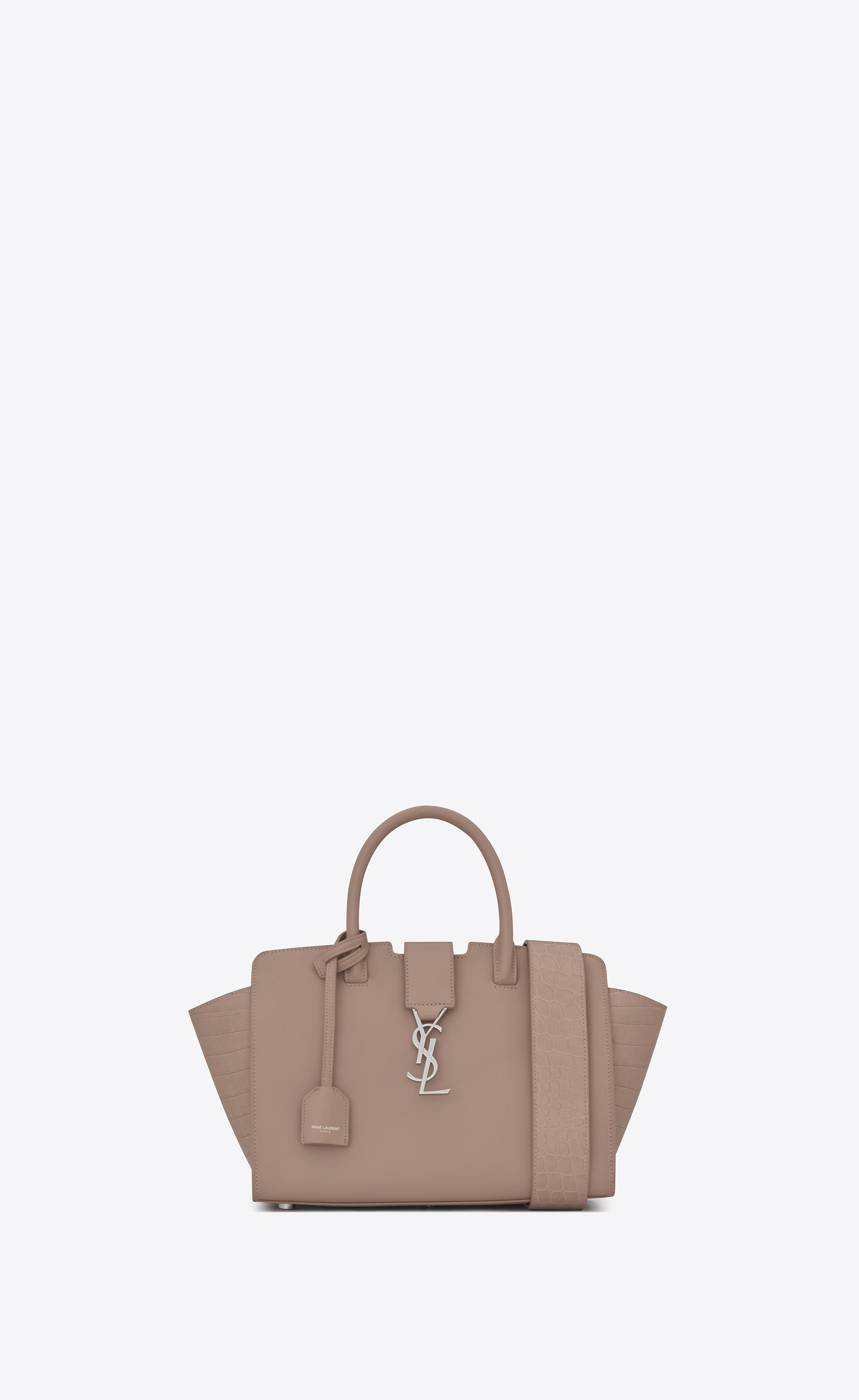 2584830eb0 Lyst - Saint Laurent Baby Downtown Cabas Ysl Bag In Rose Leather And ...