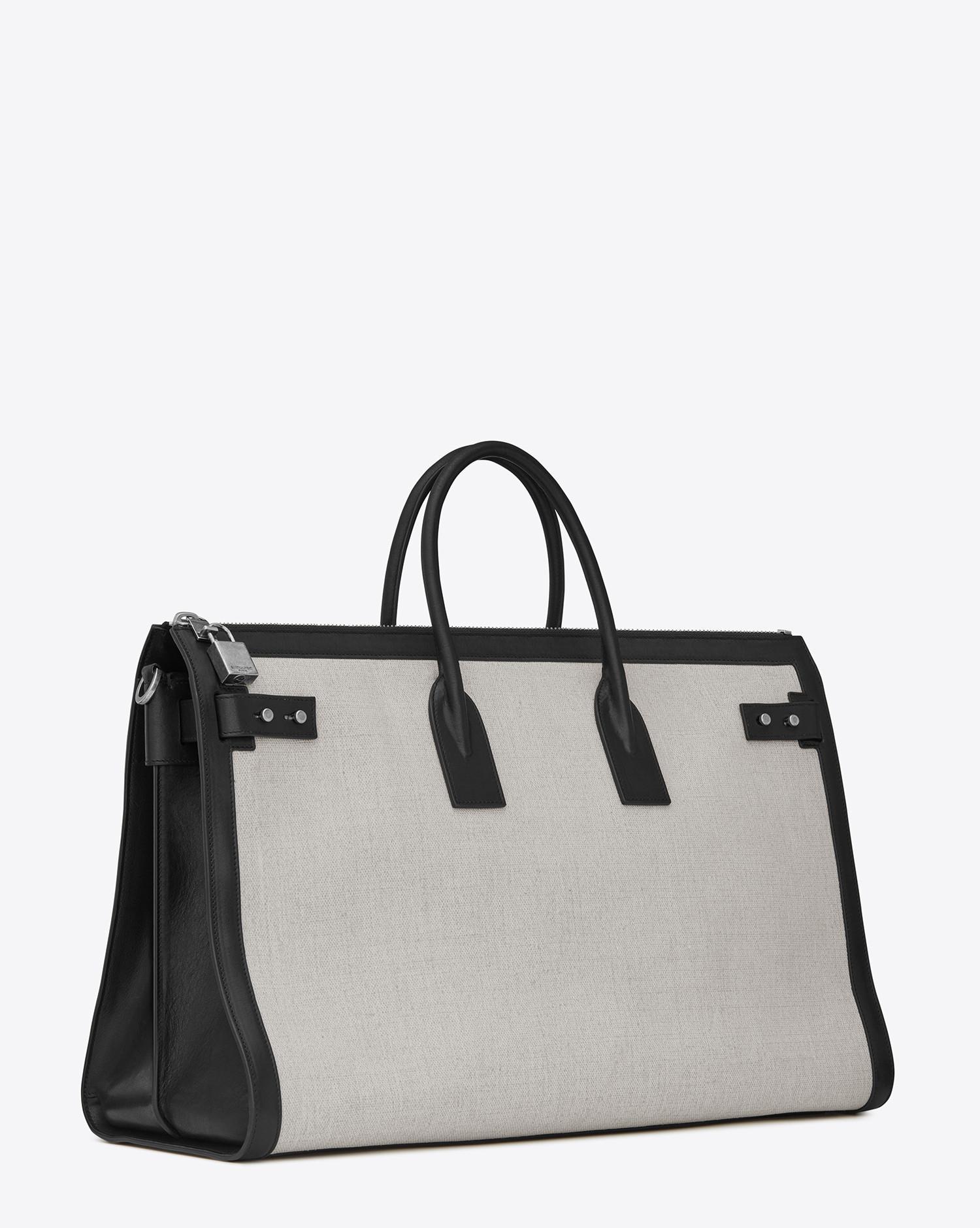 Lyst - Saint Laurent Sac De Jour 48h Duffle Bag In Linen Canvas in ... cd49b5088a62f