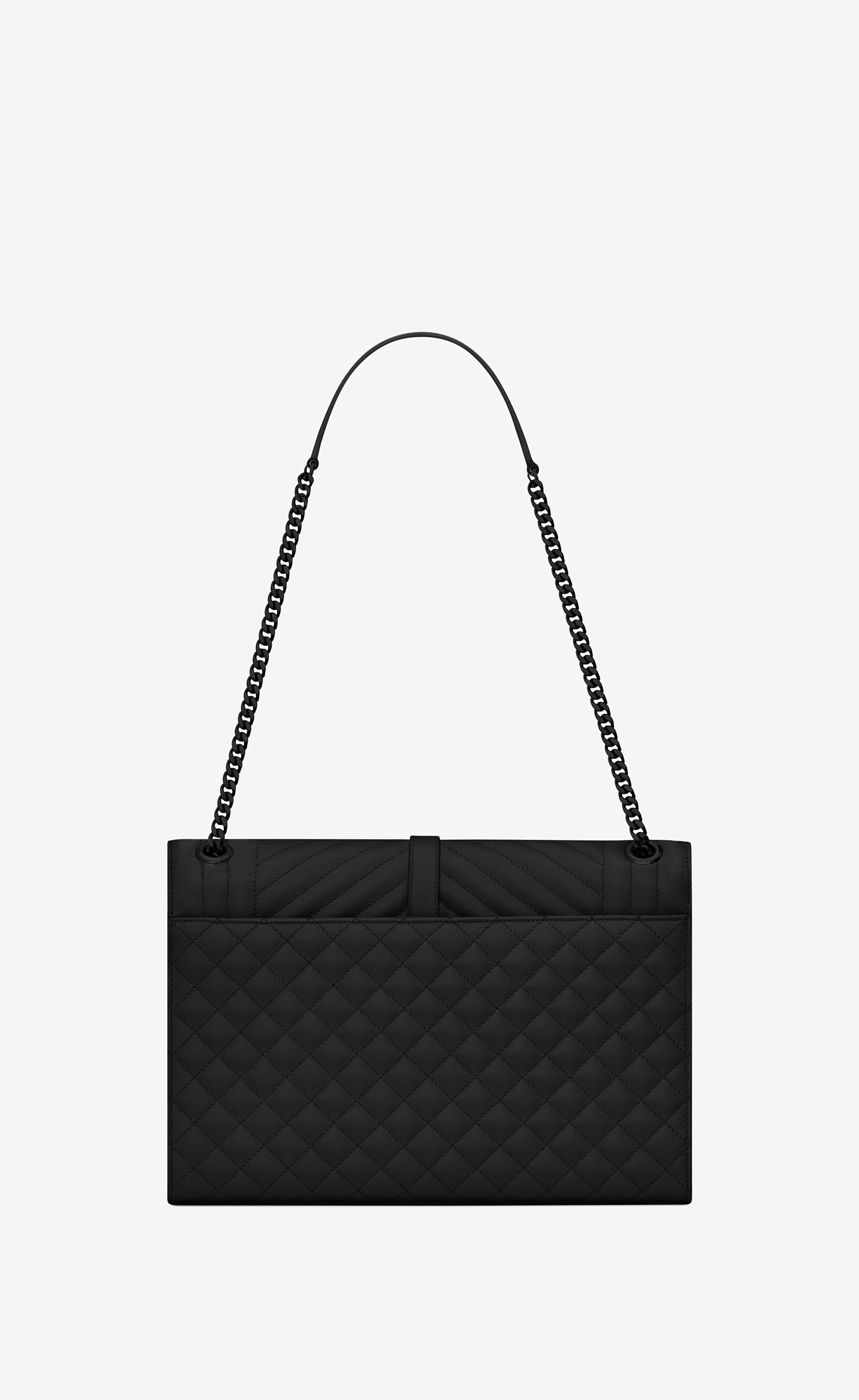 9312ed0836 Saint Laurent - Black Envelope Large Bag - Lyst. View fullscreen