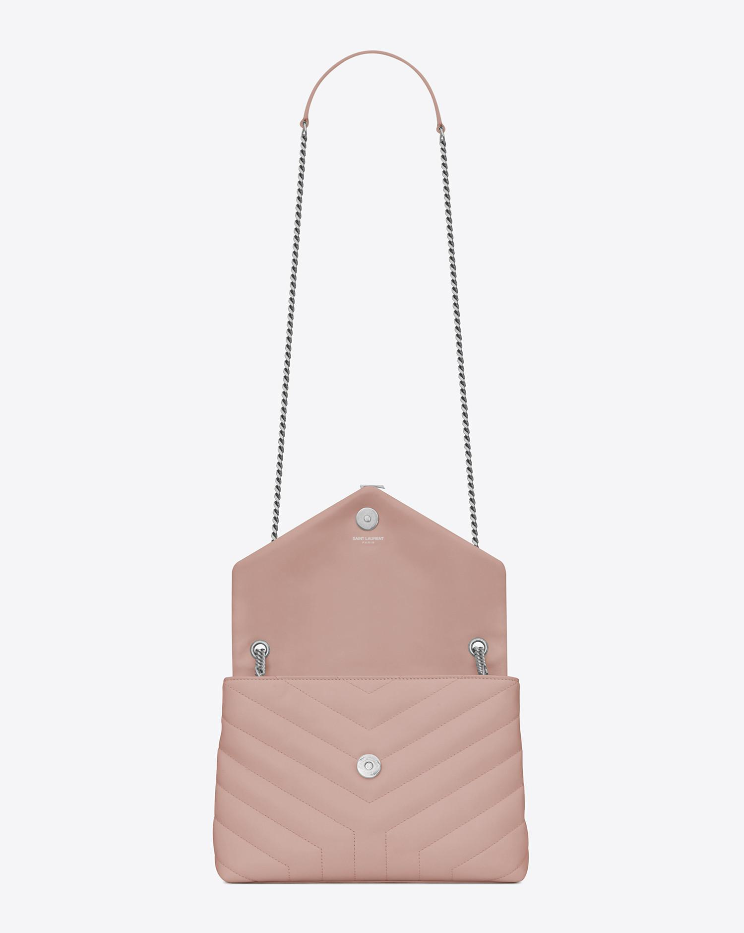 Pink Small LouLou Chain Bag Saint Laurent