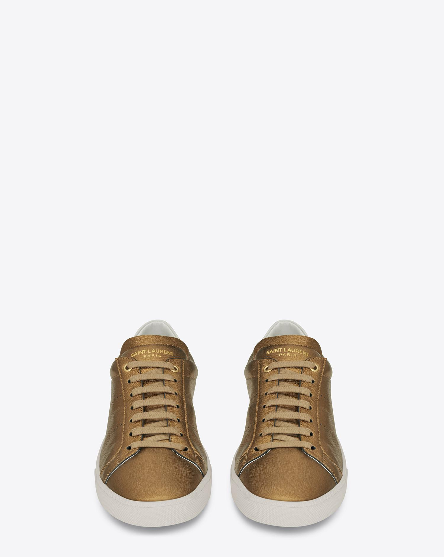 Bronze Leather Court Shoes