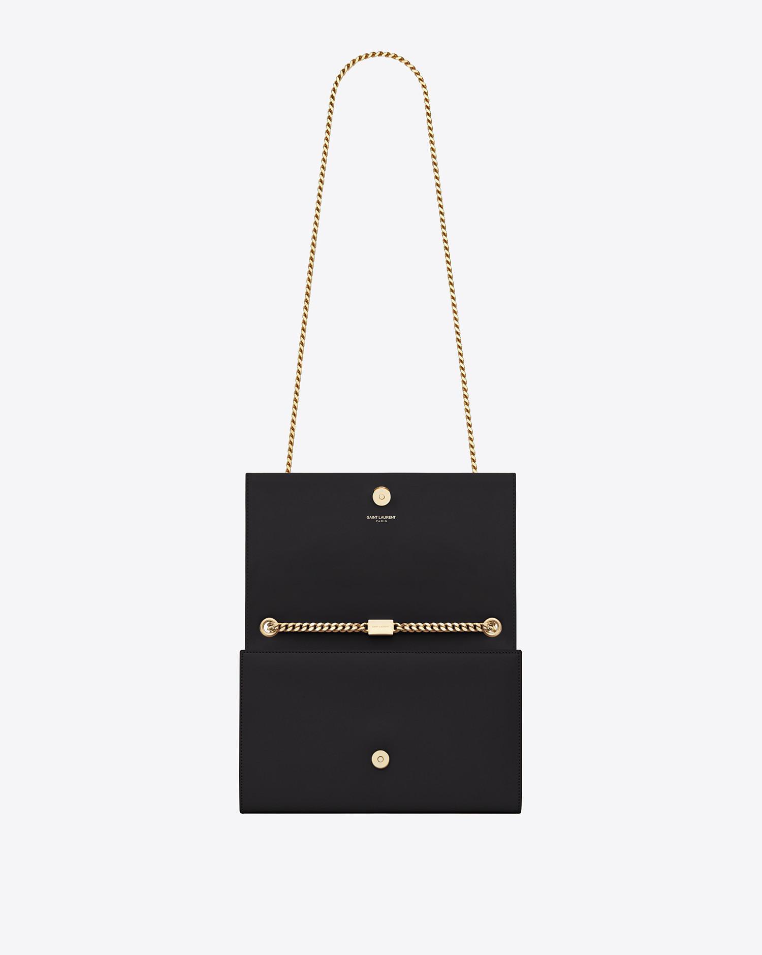 Saint Laurent - Black Classic Medium Kate Monogram Leather Shoulder Bag -  Lyst. View fullscreen 95d664c789d91