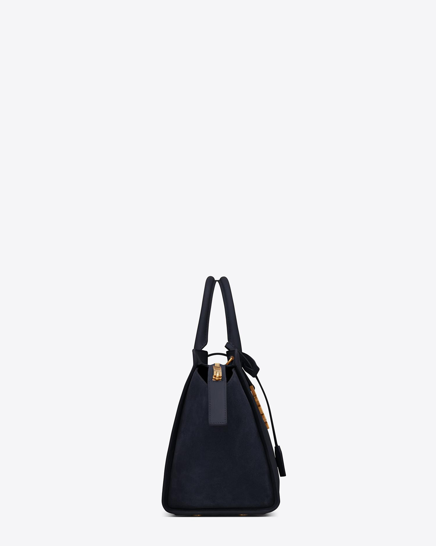 355754a6a8cc Lyst - Saint Laurent Downtown Small Cabas In Leather And Suede in Blue