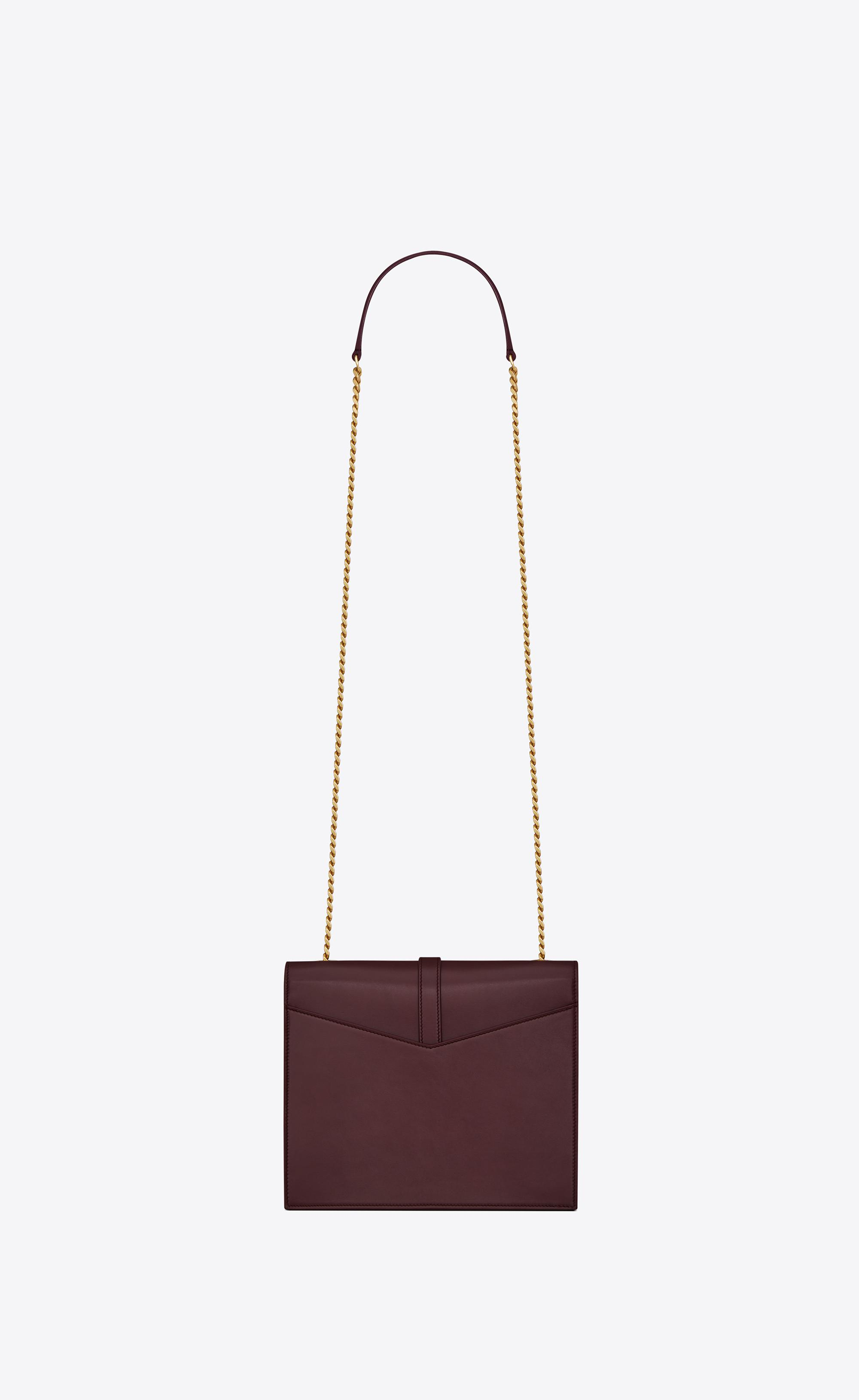 458896ecadd Saint Laurent Sulpice Medium In Smooth Leather in Red - Lyst