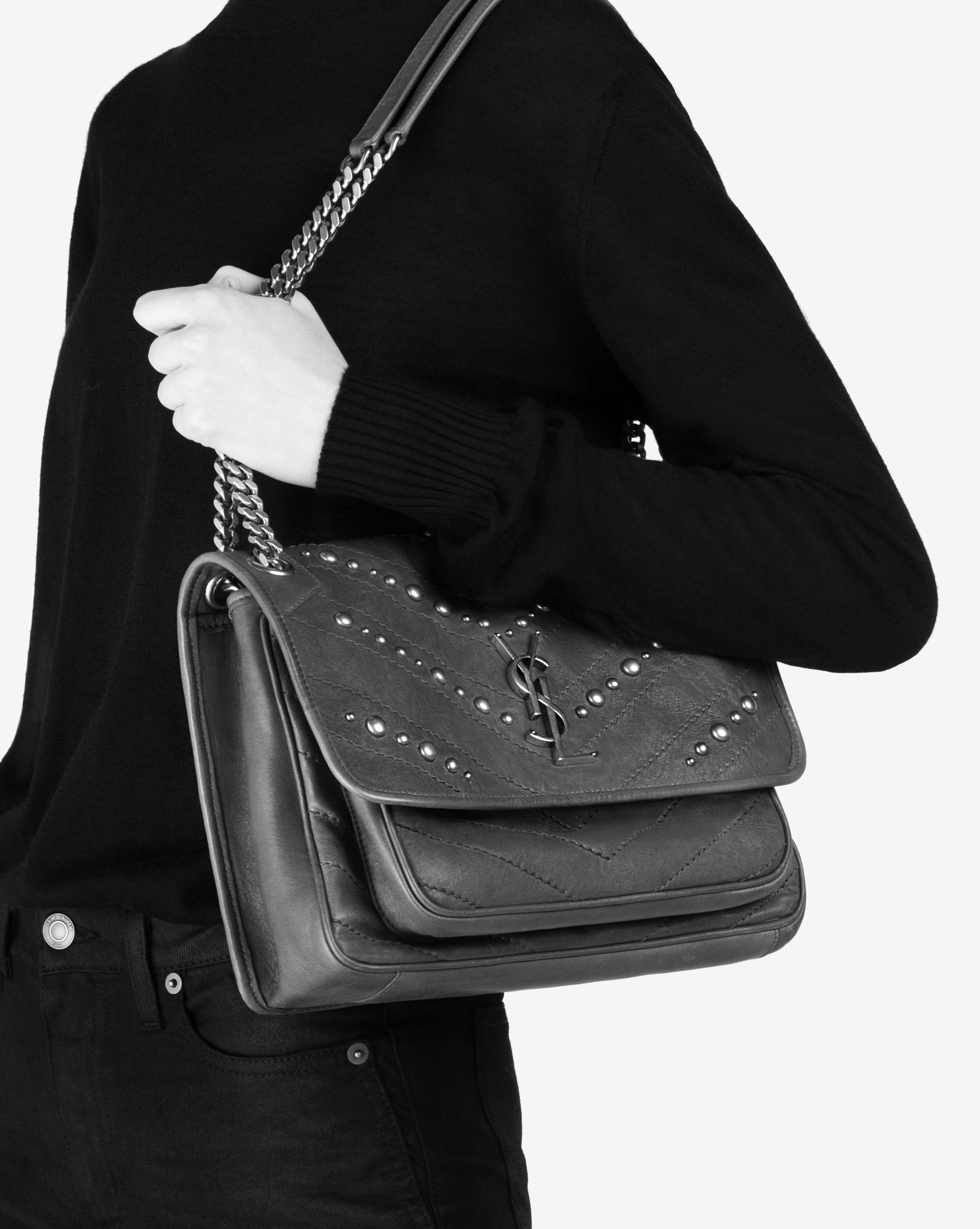 a2592391b111 Lyst - Saint Laurent Niki Medium In Vintage Leather in Brown