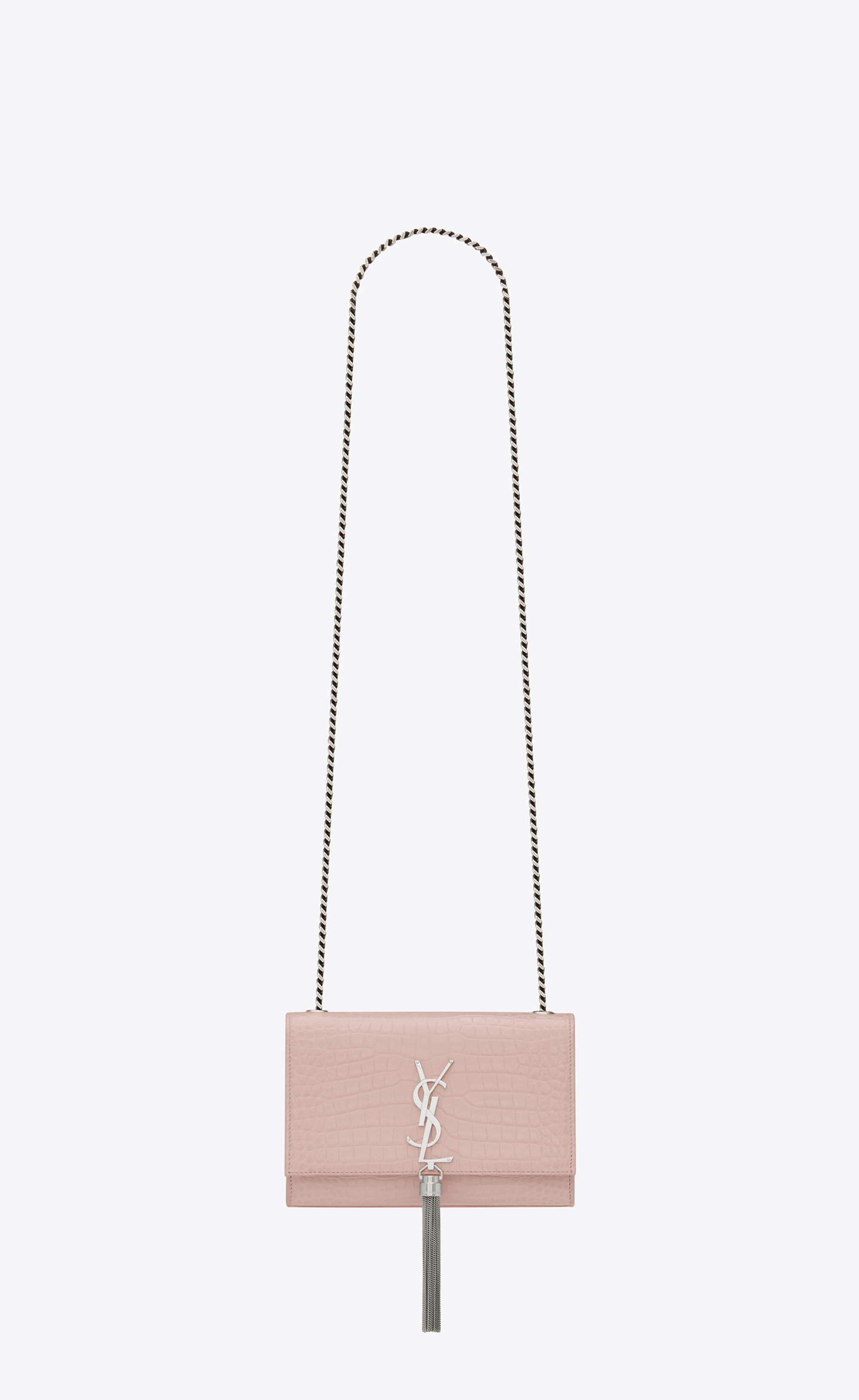 dcde30db1567e Saint Laurent. Women s Kate Small With Tassel In Embossed Crocodile Shiny  Leather