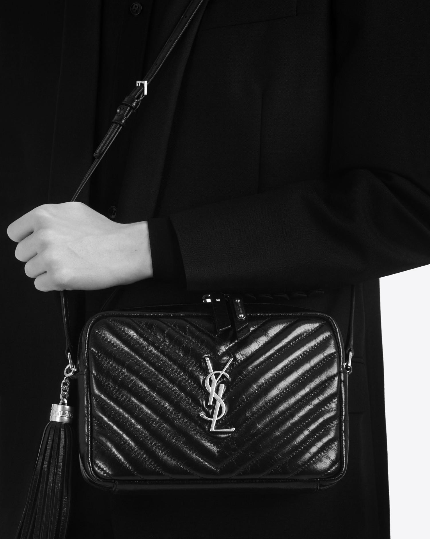 b469ba318c11c Lyst - Saint Laurent Lou Small Matelassé Leather Camera Shoulder Bag ...