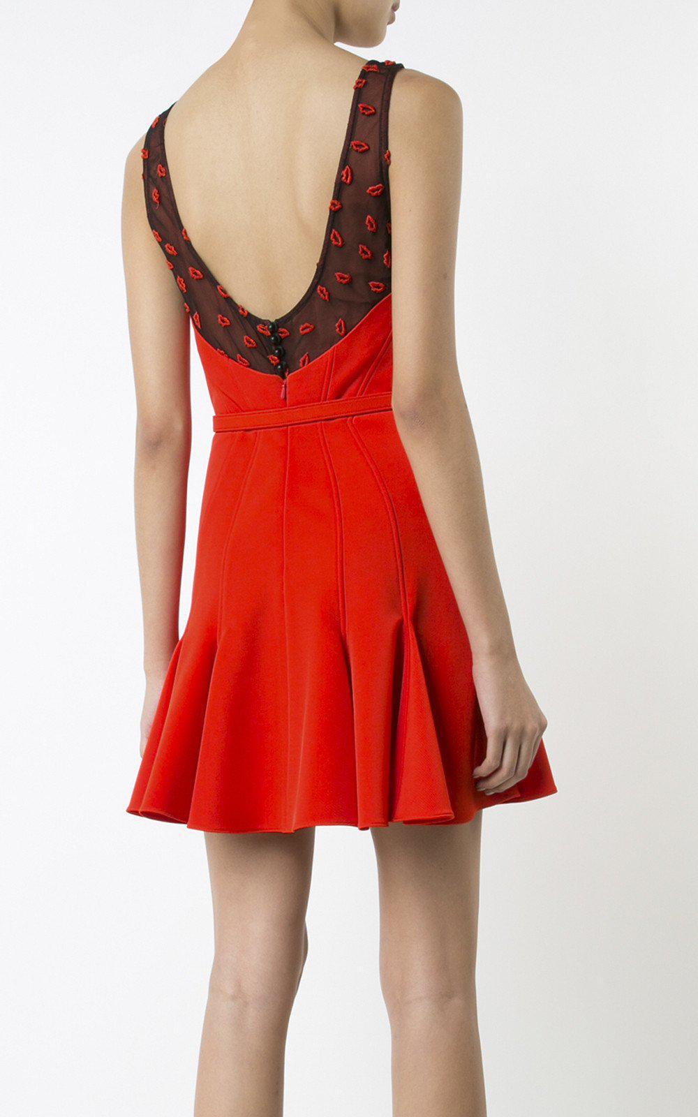 Lyst Zac Zac Posen Betty Boop Dress In Red