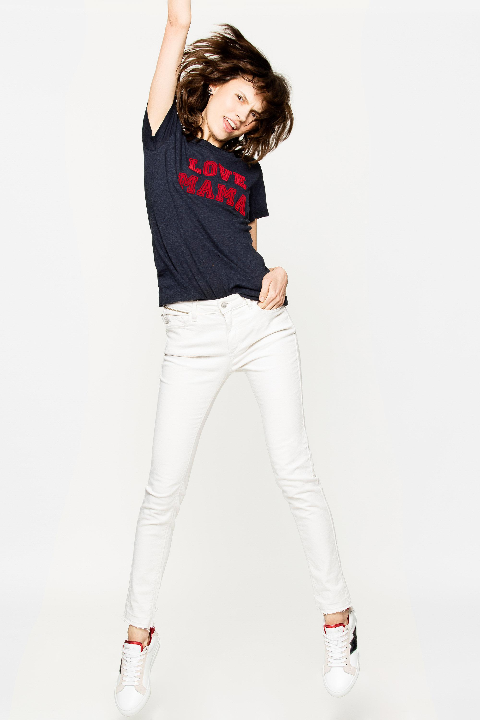 fb669195de2a Lyst - Zadig   Voltaire Walk Chin Overdyed Mama T-shirt in Blue