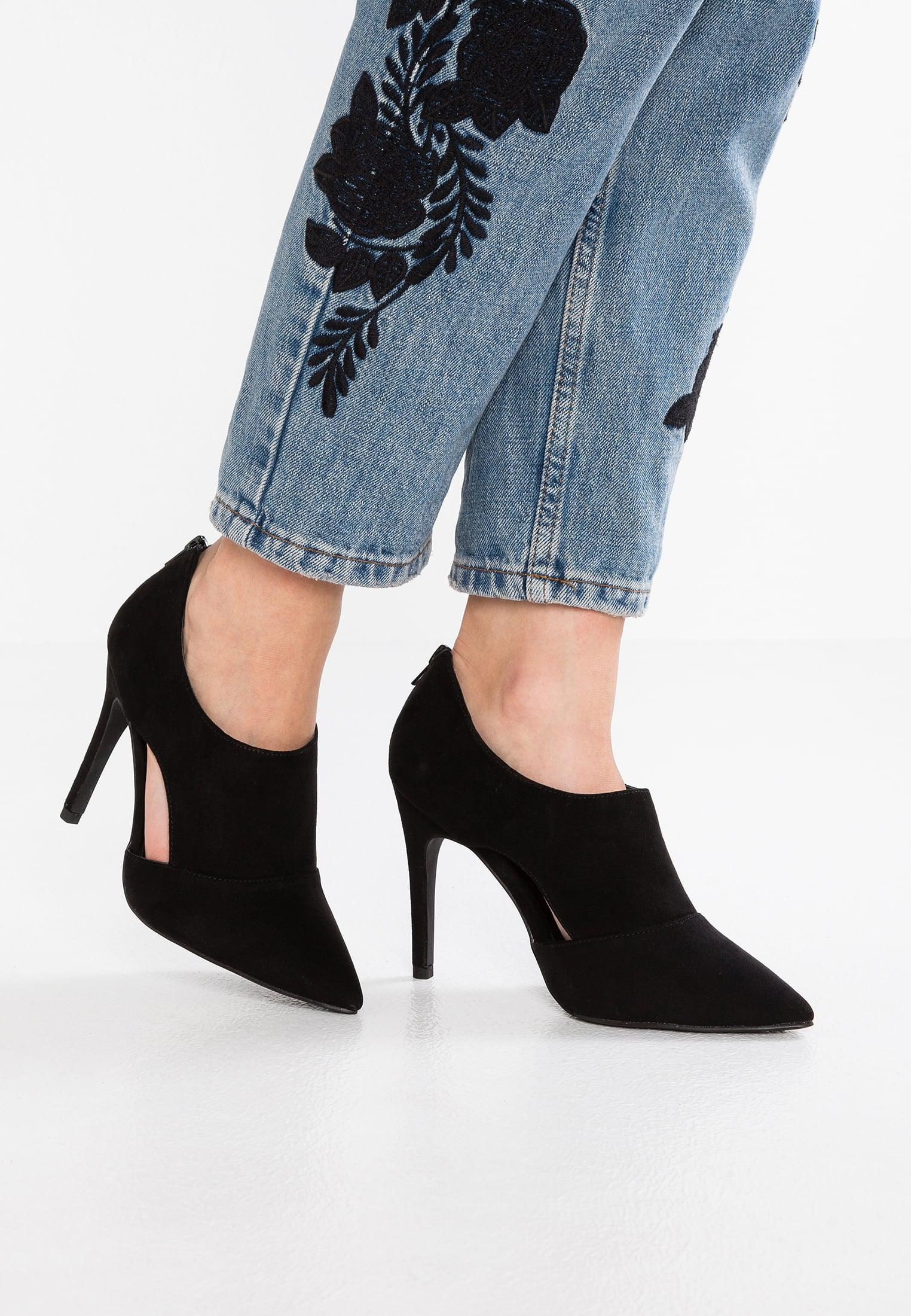 New Look Wide Fit WIDE FIT STUT - High heeled ankle boots - black misLVL