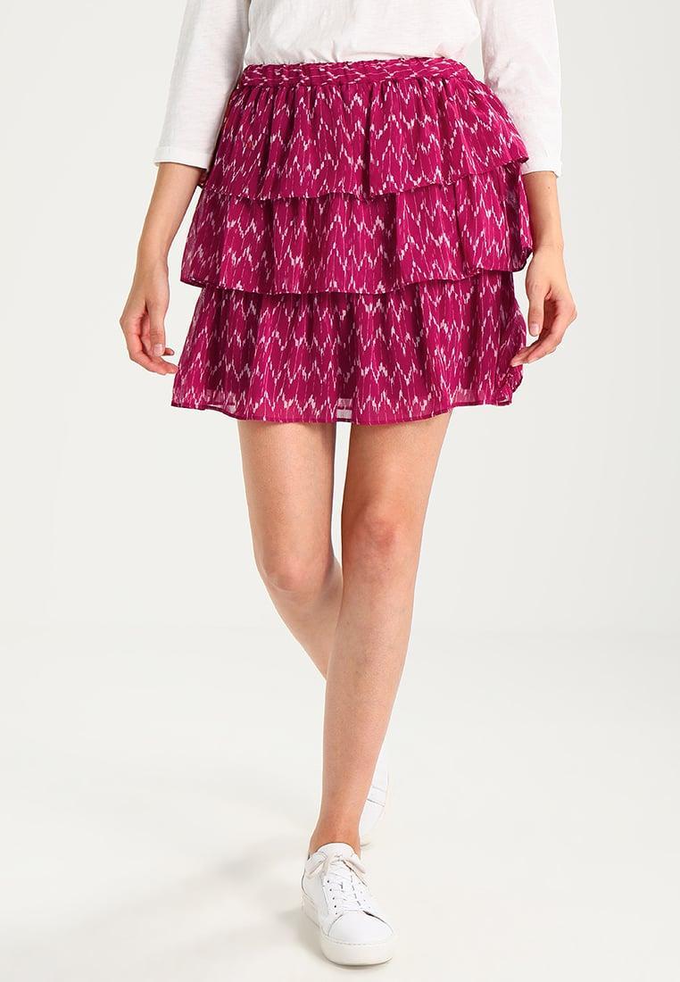 gap tiered pleated skirt in purple lyst
