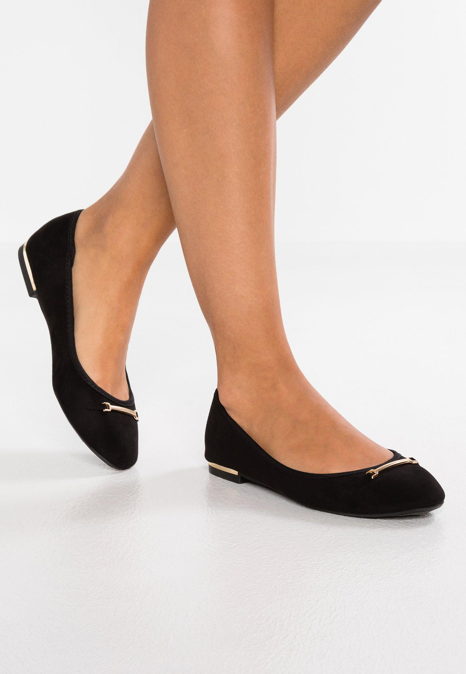 New Look Wide Fit WIDE FIT KAR - Ballet pumps - black Ebd13dz5