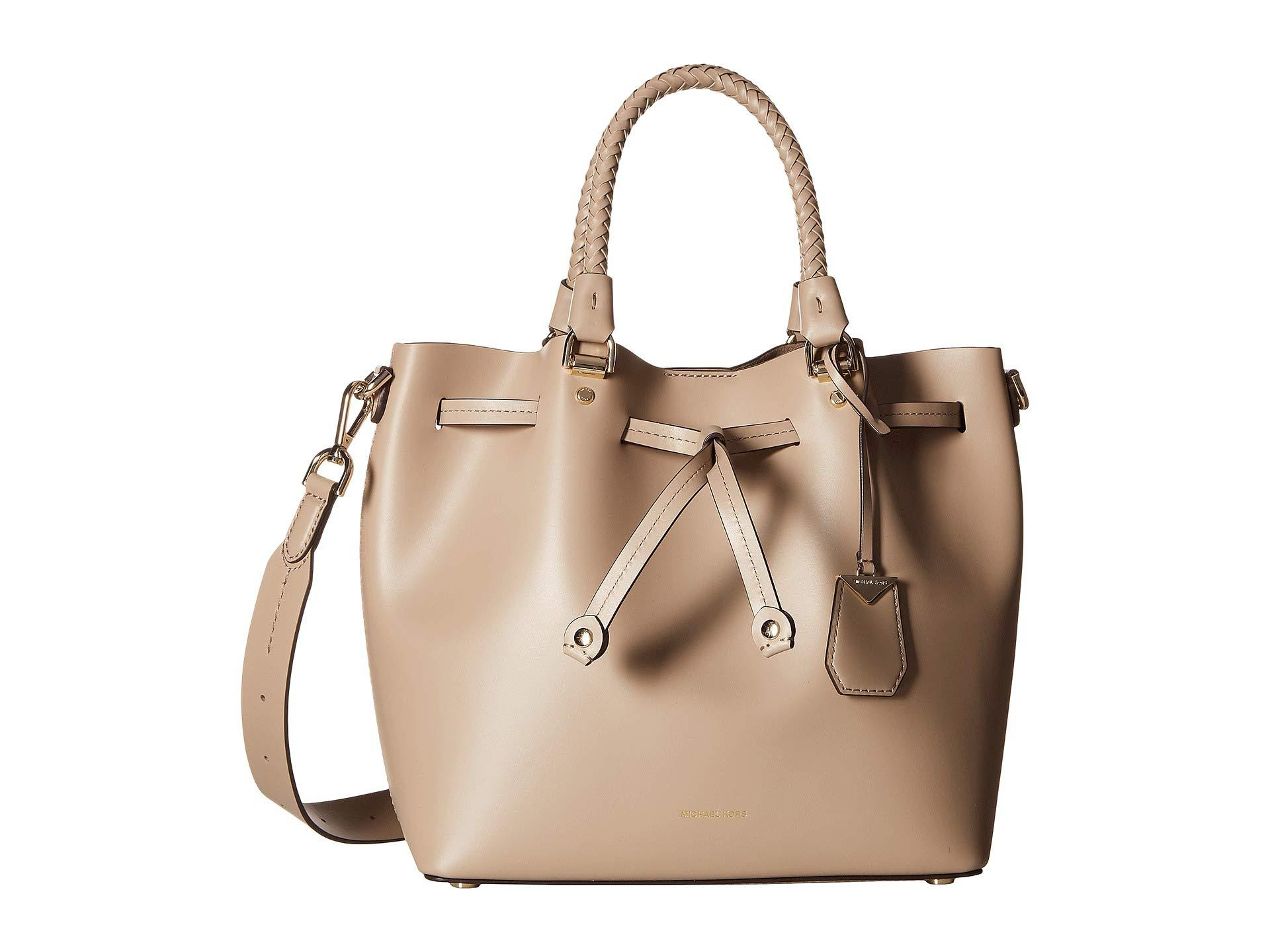 722bd104c1b5 Lyst - MICHAEL Michael Kors Blakely Medium Bucket Bag (truffle ...