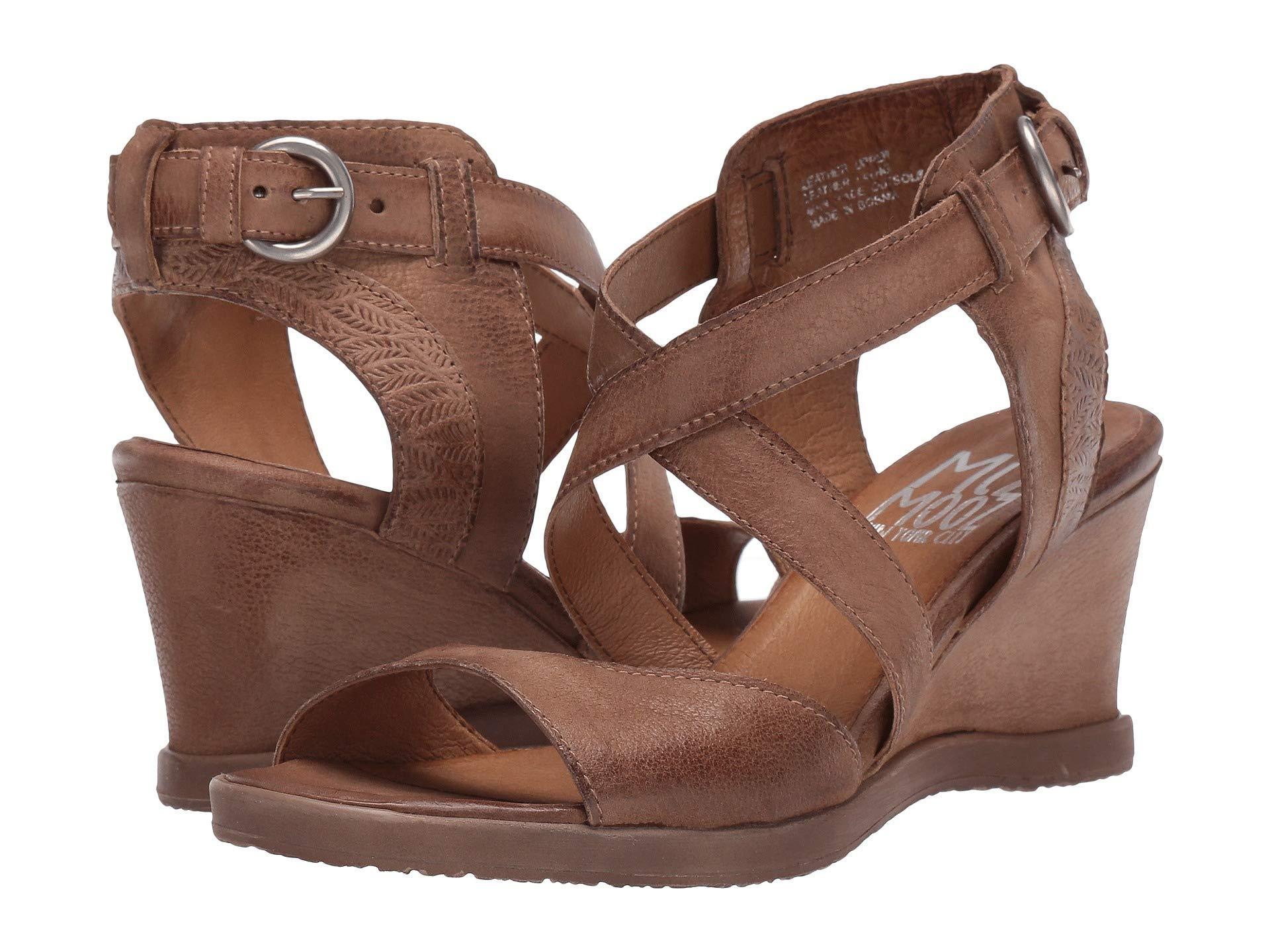 aff4464e565 Lyst - Miz Mooz Braden (sage) Women s Wedge Shoes in Brown