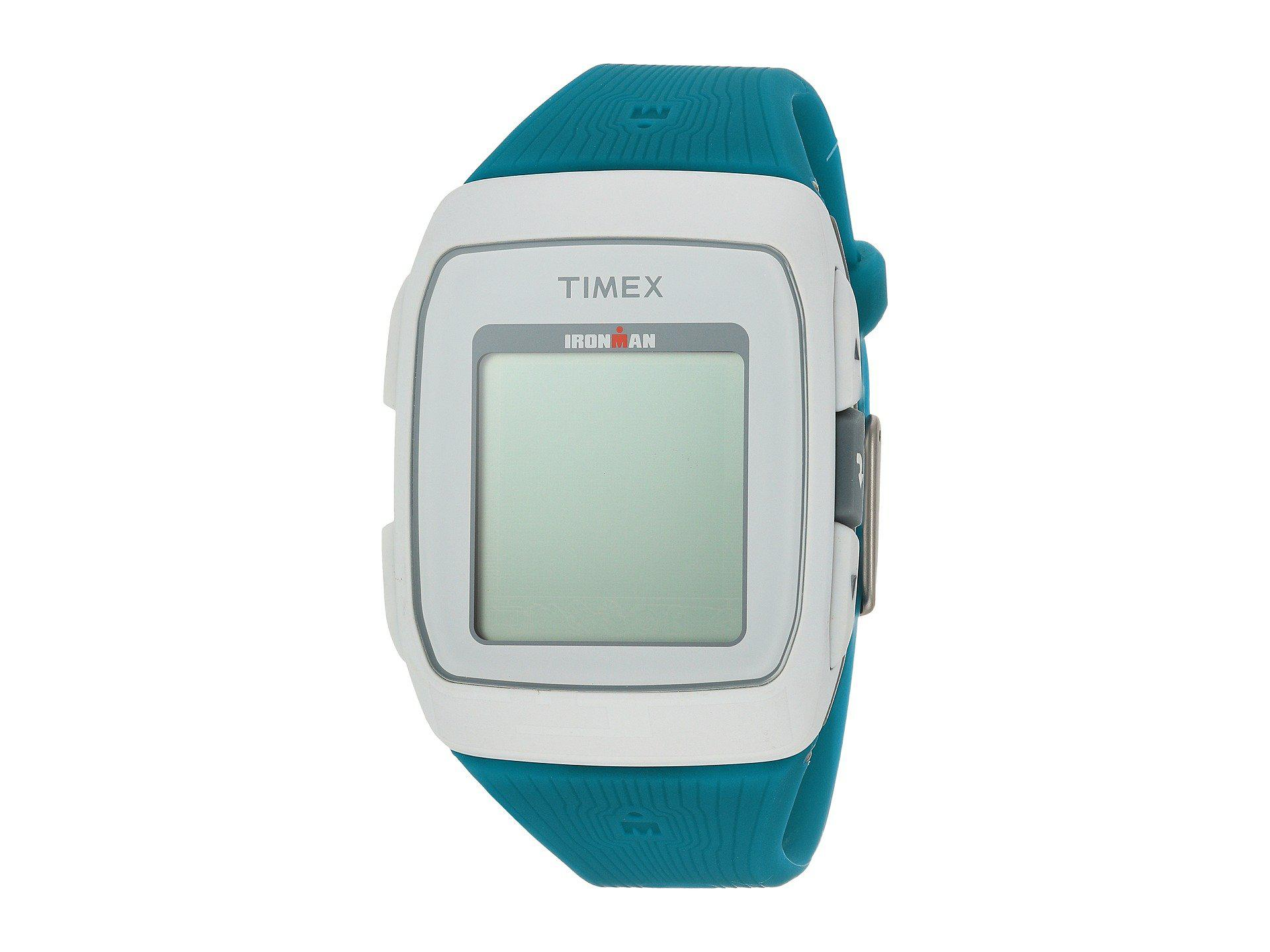 be644563c0b4 Timex Ironman Gps Silicone Strap in Blue - Lyst