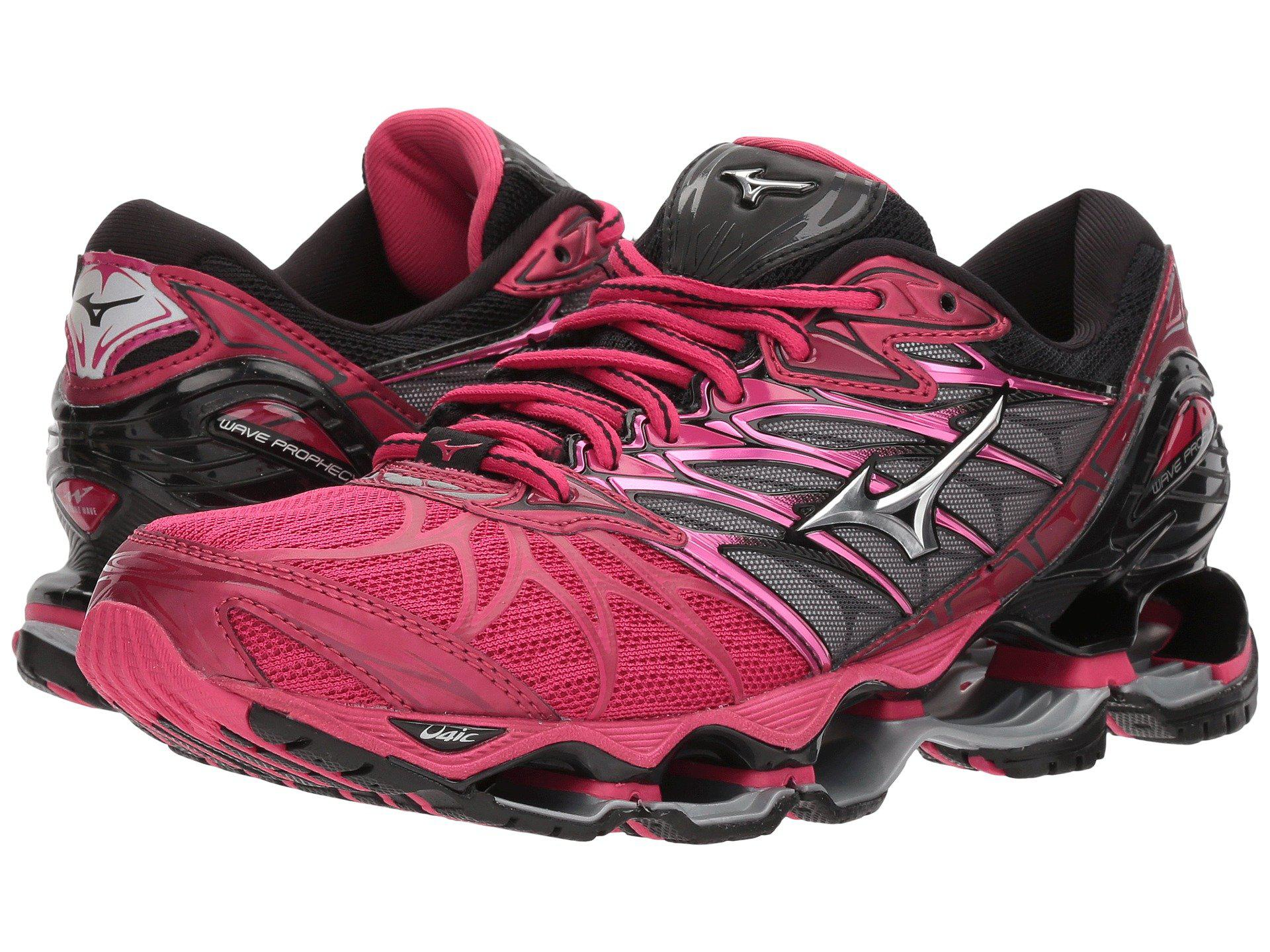 uk availability 3aea0 bd4aa Mizuno Wave Prophecy 7 (black silver) Women s Running Shoes in Pink ...