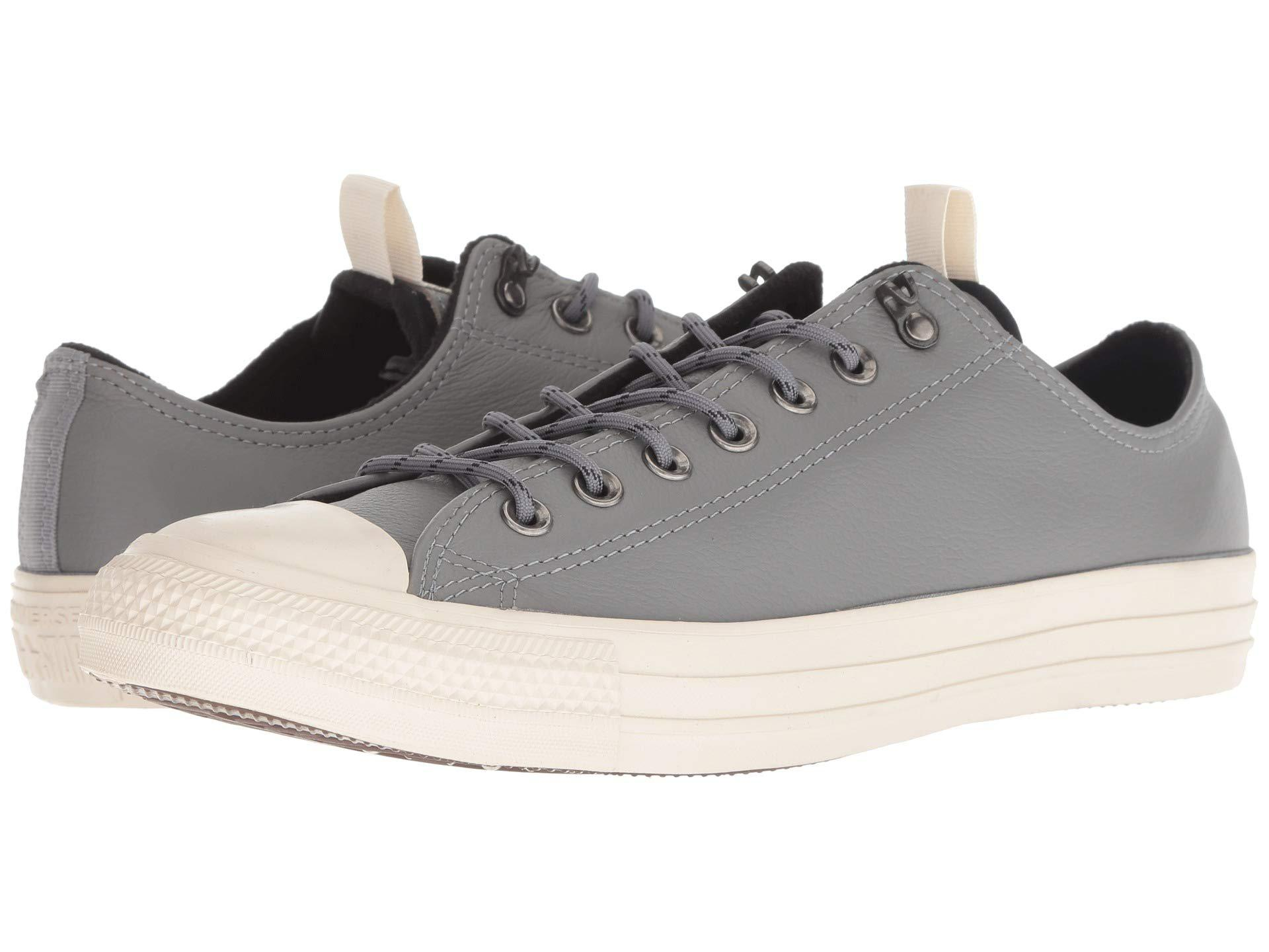 3461a38910d4 Lyst - Converse Chuck Taylor All Star Leather - Ox (mason black ...