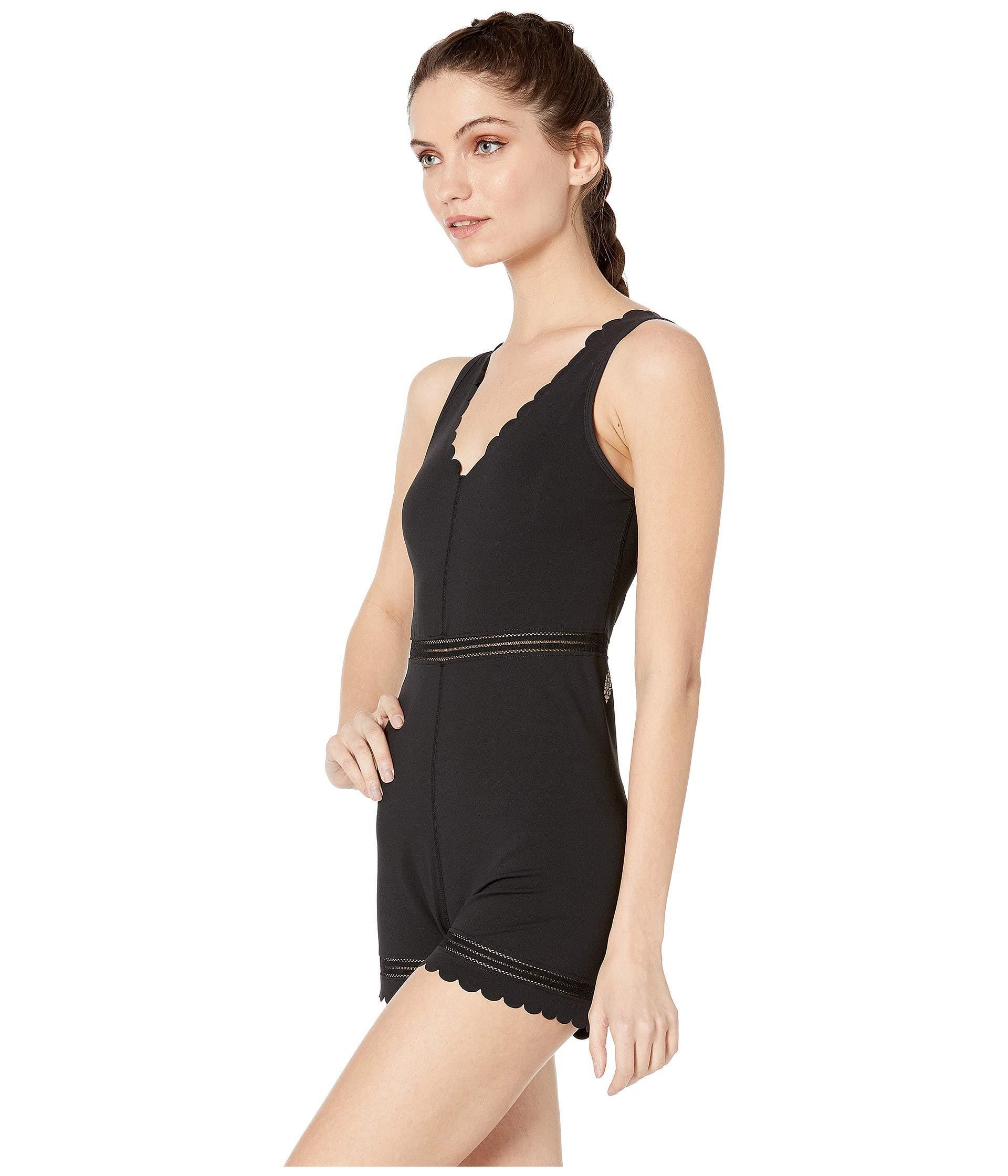 0d45601f145 Lyst - Free People Genesis Bodysuit (black) Women s Jumpsuit   Rompers One  Piece in Black