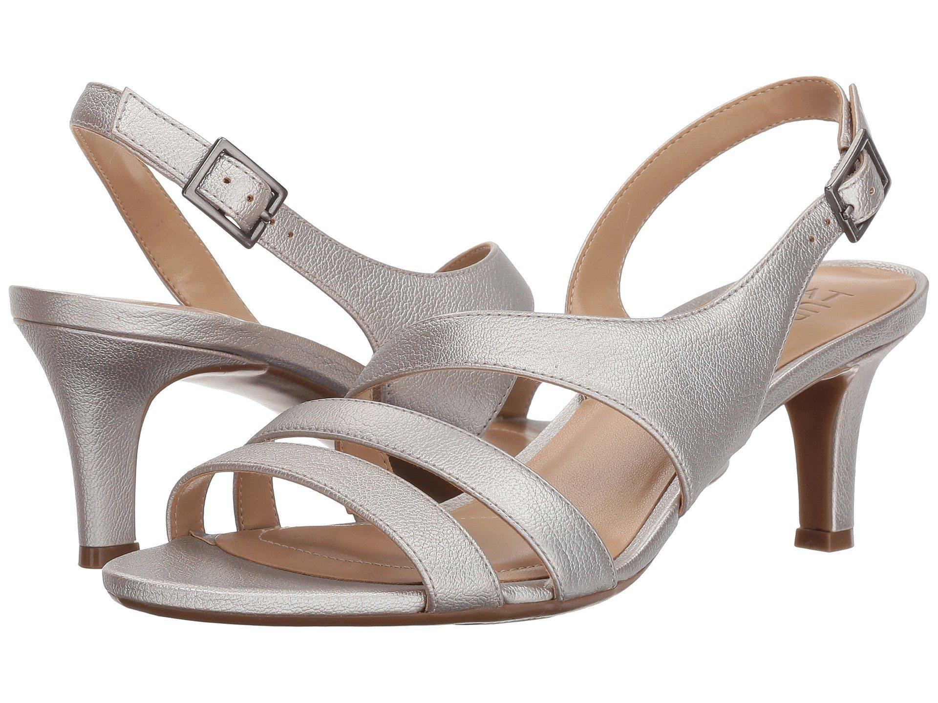 1e706a9822db Lyst - Naturalizer Taimi (silver Pearl Grid) High Heels in Metallic