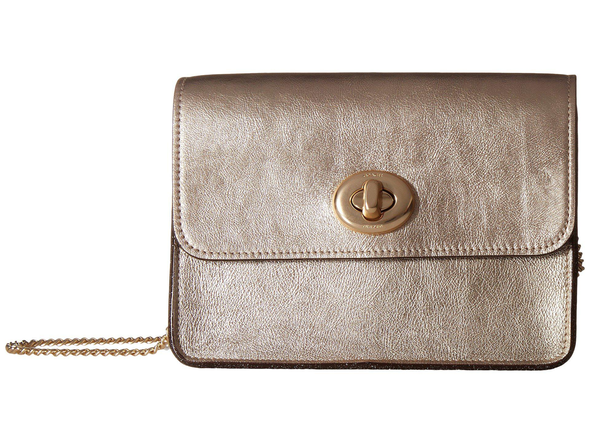 Cross Body Bags - Metallic Leather Bowery Crossbody Platinum - gold - Cross Body Bags for ladies Coach ysZaz2wSP
