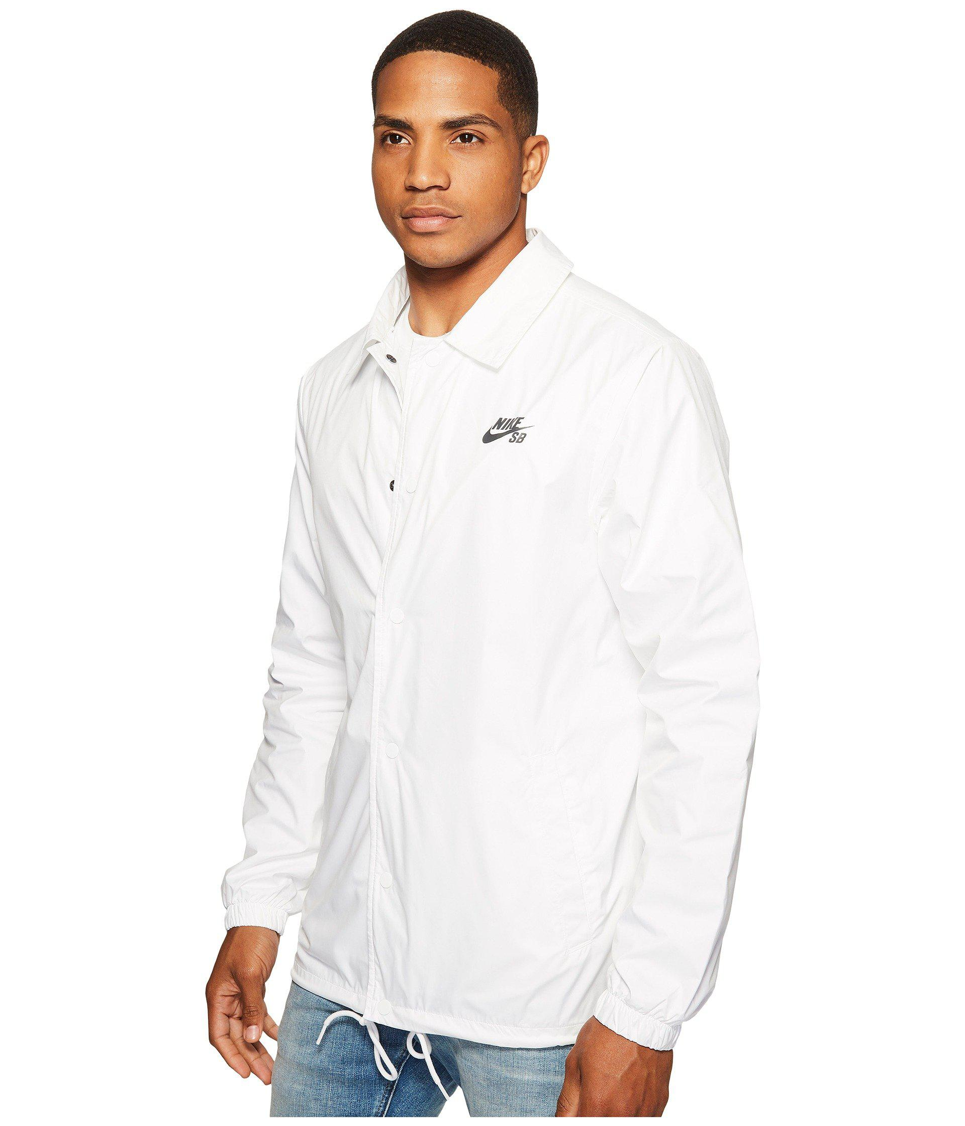 f4fb9fe426f21 Lyst - Nike Sb Shield Coaches Men s Jacket in White for Men - Save  26.15384615384616%