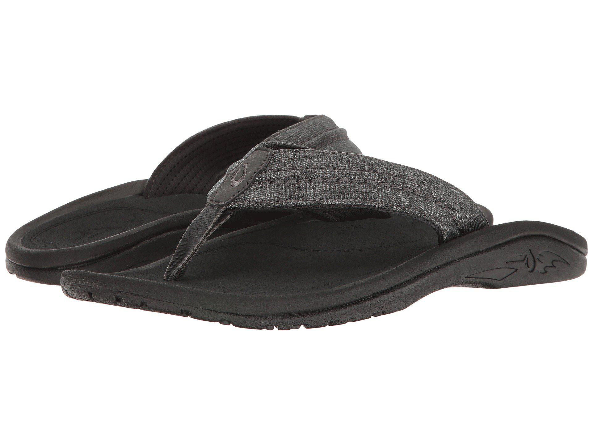 274eee3127c Lyst - Olukai Hokua Mesh (dark Shadow) Men s Sandals in Black for Men