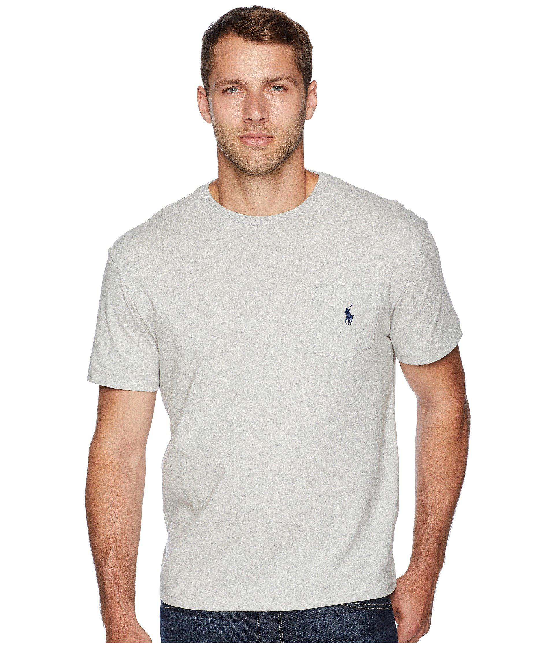cc2ab2a97d81 Lyst - Polo Ralph Lauren Short Sleeve Crew Neck Pocket T-shirt ...