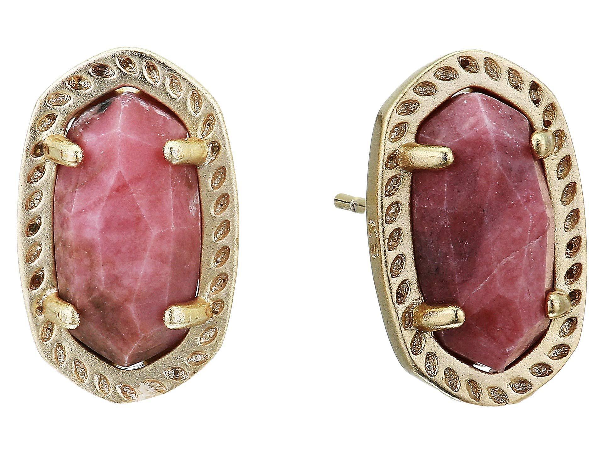 8ce89da58 Lyst - Kendra Scott Emery Earrings (rhodium/ivory Mother-of-pearl ...