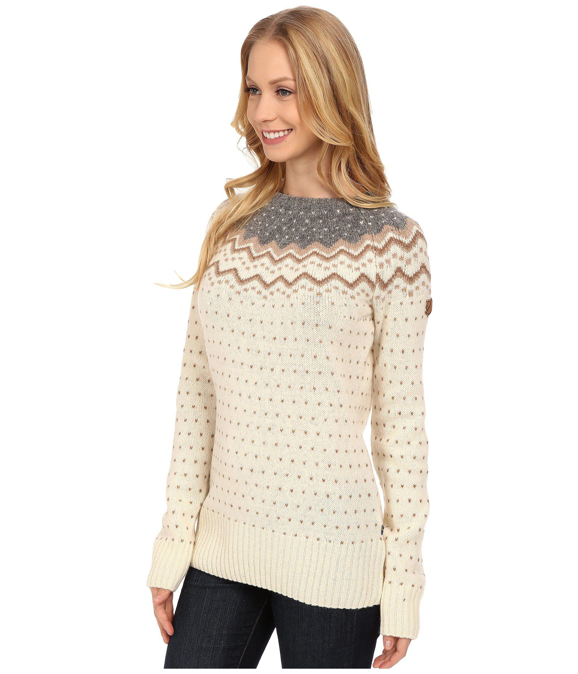 bd210f207aef Lyst - Fjallraven Ovik Knit Sweater (sand) Women s Sweater in Brown