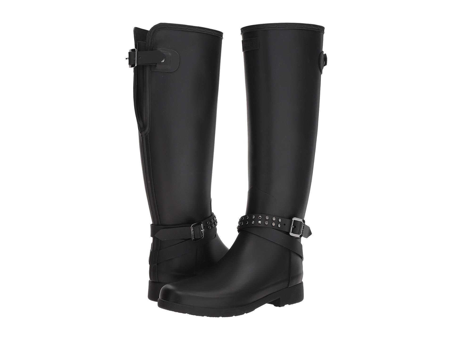 Lyst - HUNTER Refined Back Adjustable Calf Stud Tall Rain Boots ... 49fb53bab1