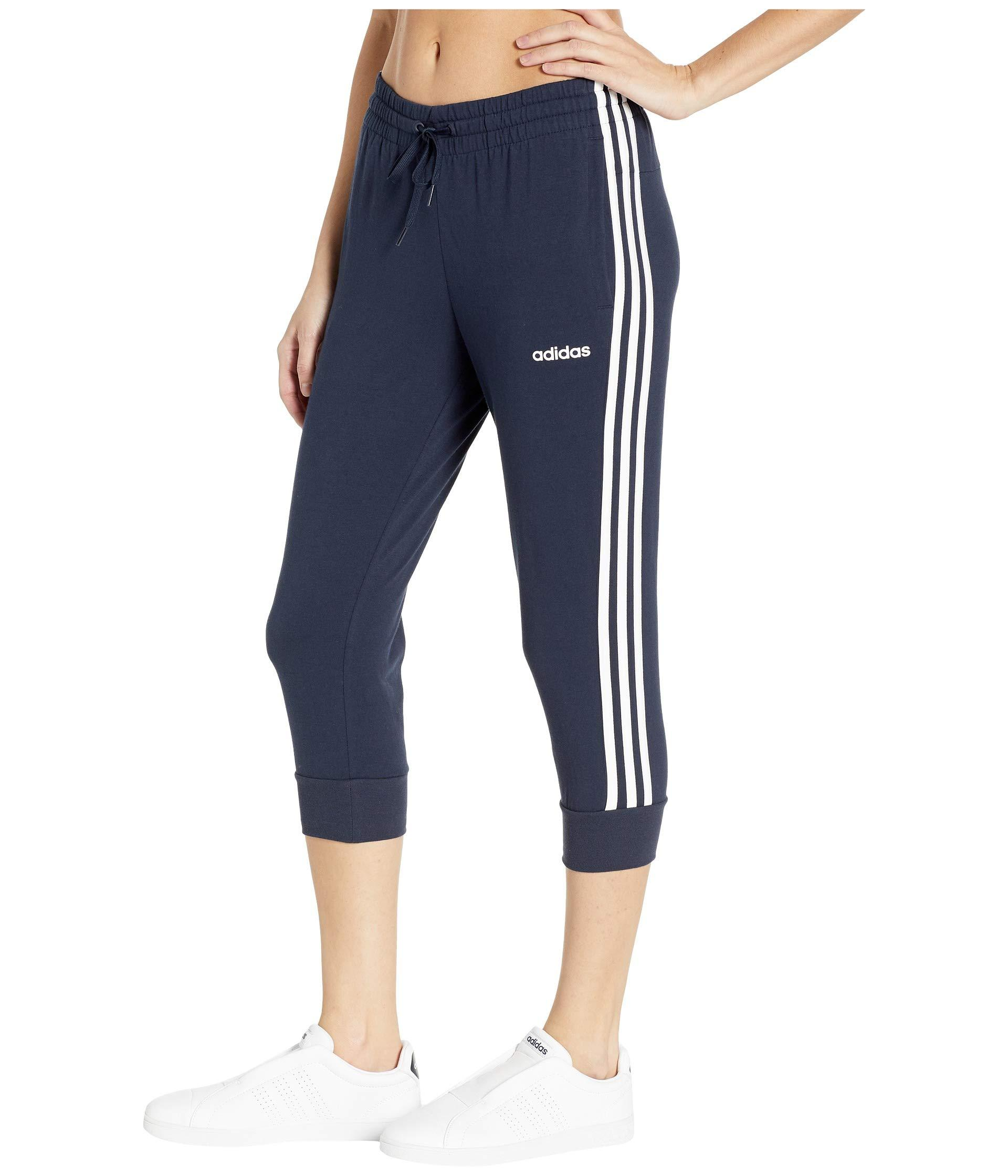 adidas Essential 3 stripes 34 Pants (blackwhite) Women's
