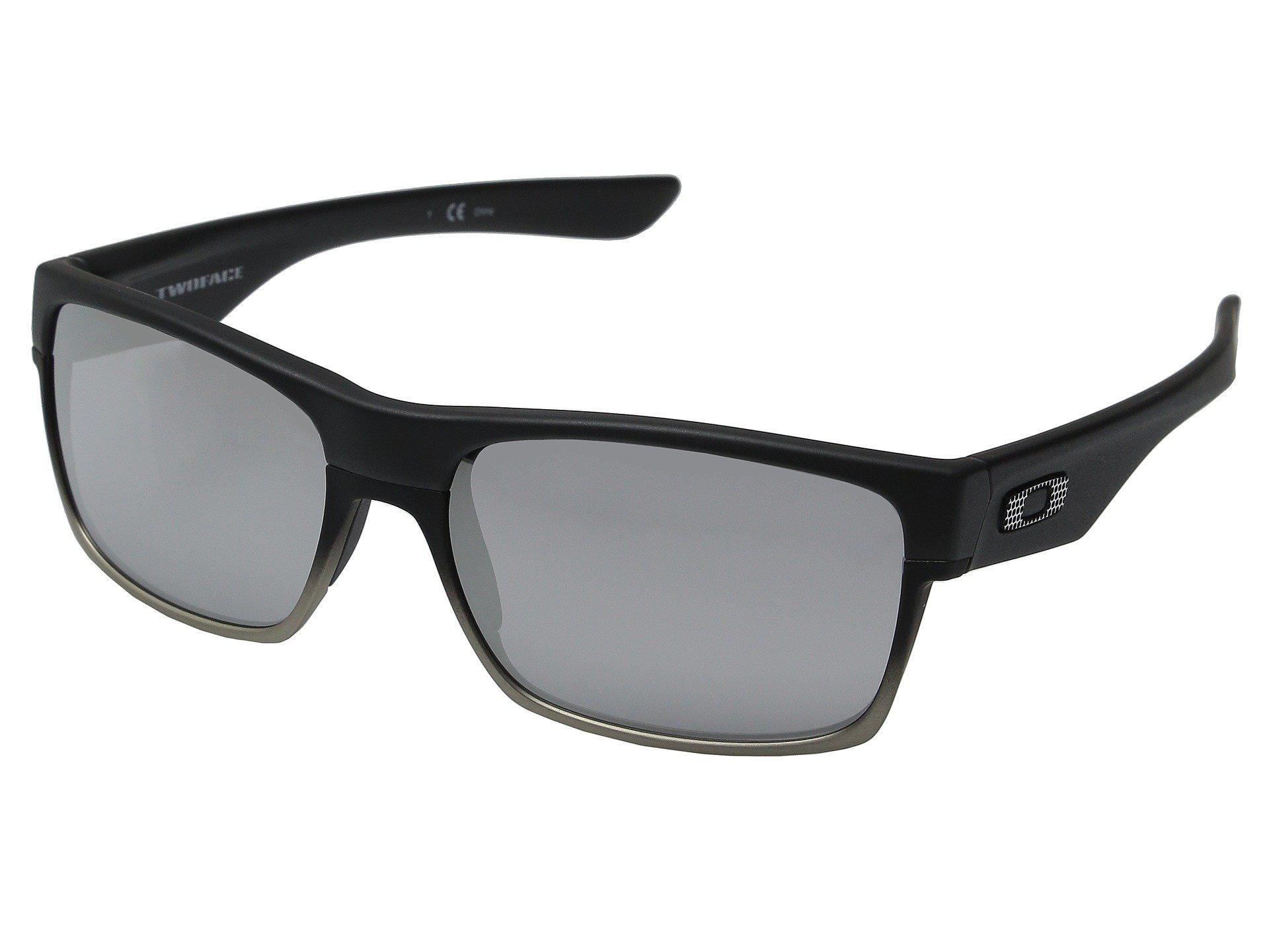 3c5e8528b3c Lyst - Oakley Two Face (matte Black grey Polarized) Sport Sunglasses ...